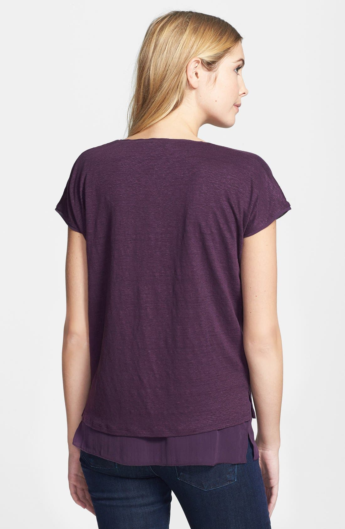 Alternate Image 2  - Vince Double Layer Cap Sleeve Tee