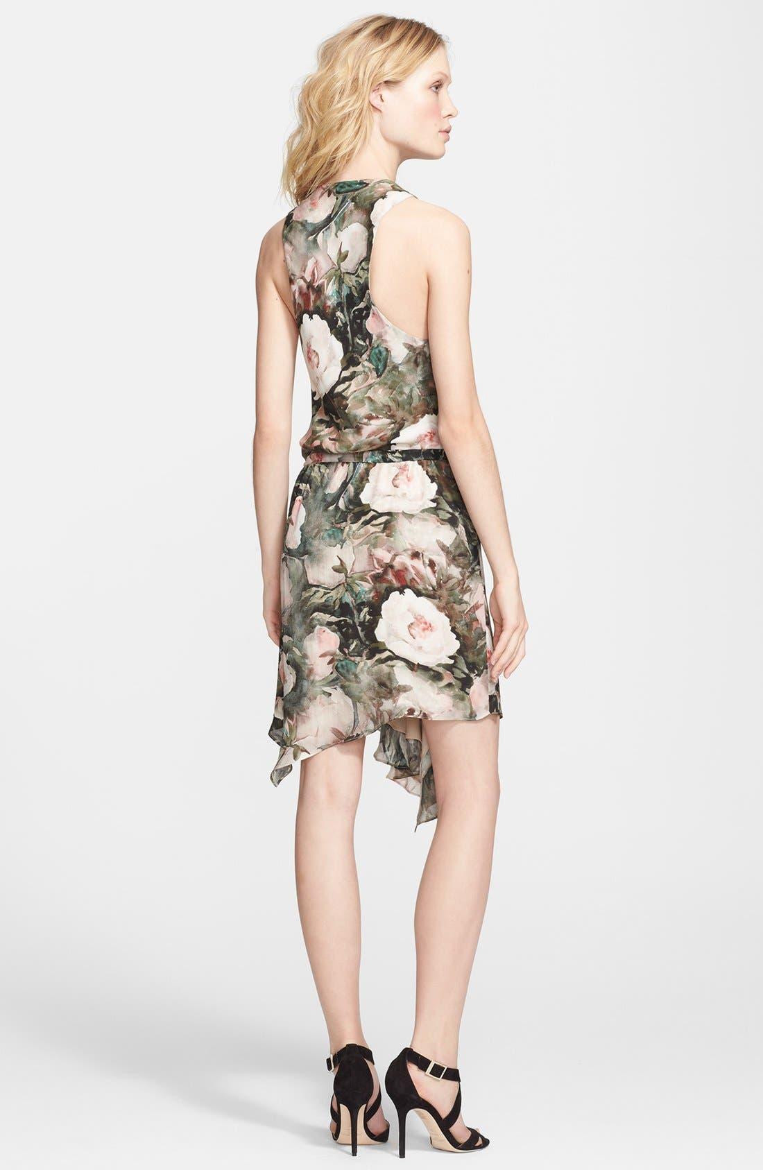 Alternate Image 2  - Haute Hippie Floral Print Silk Dress