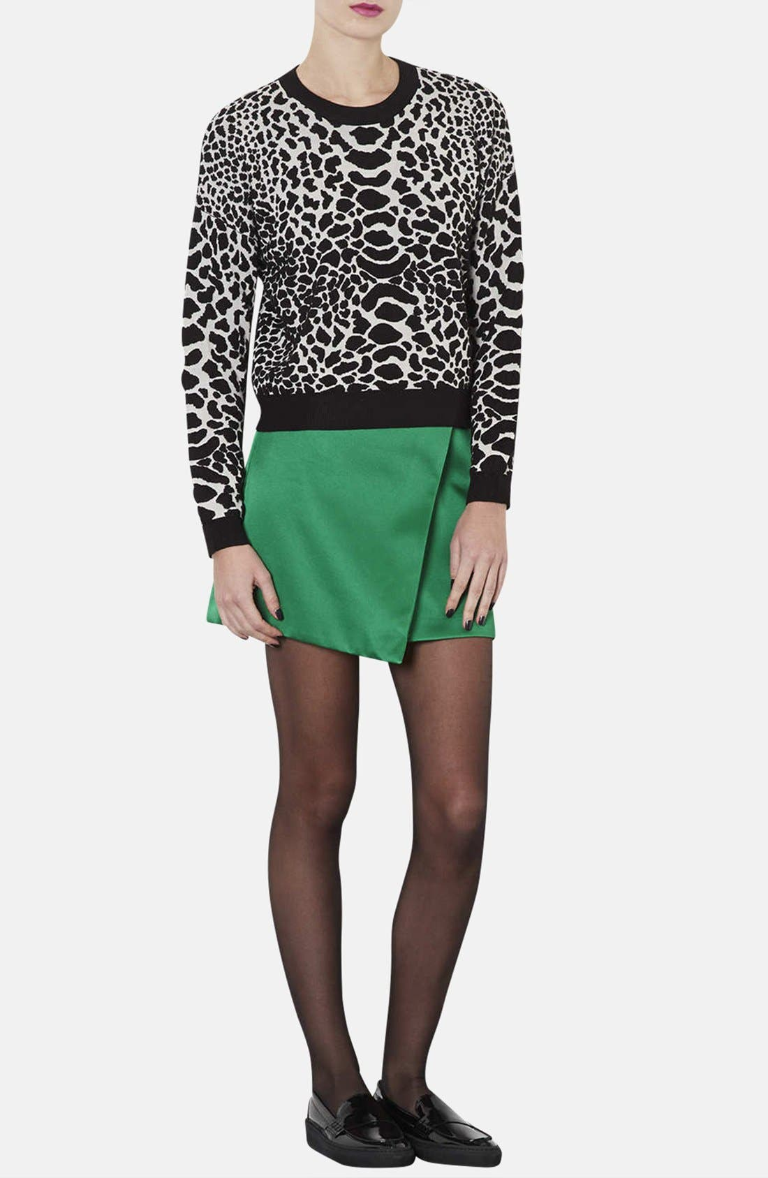 Alternate Image 4  - Topshop Quilted Animal Spot Sweater