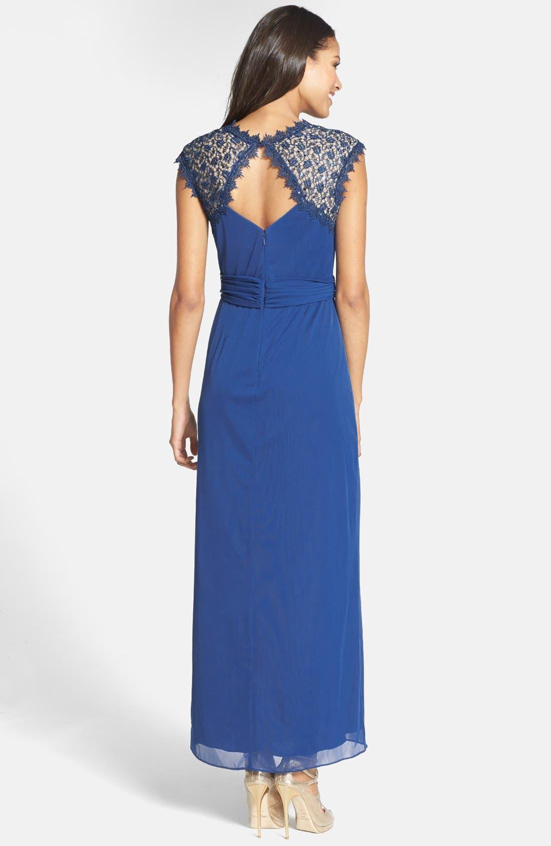 Alternate Image 2  - Alex Evenings Embellished Cap Sleeve Gown