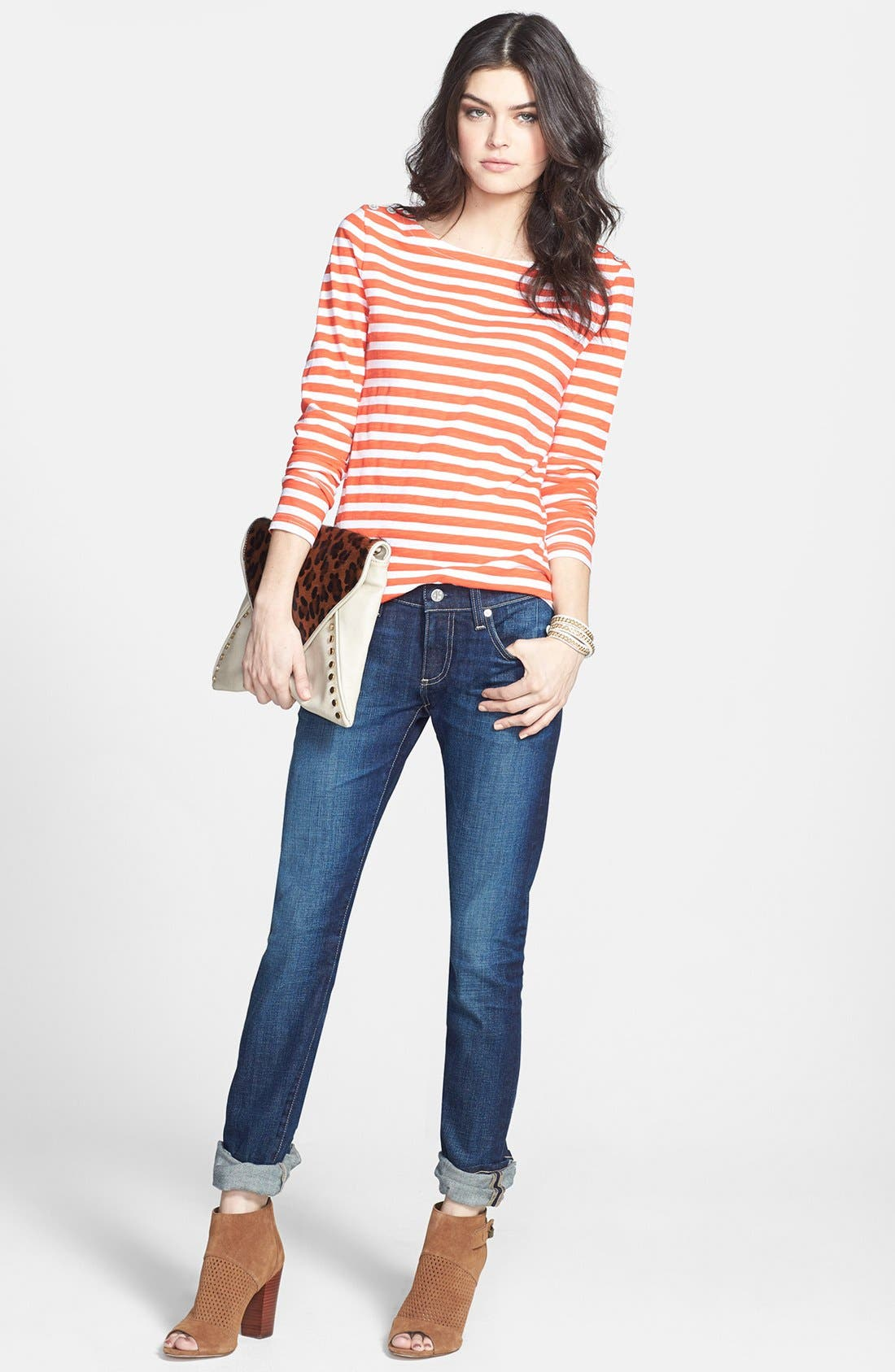 Alternate Image 5  - AG 'The Tomboy' Relaxed Straight Leg Jeans (Six Year Compass)