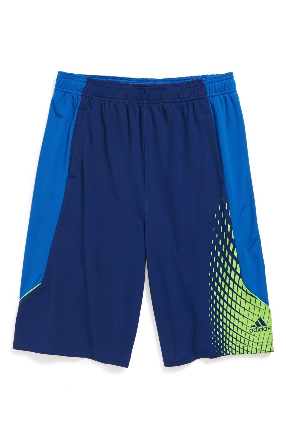 Alternate Image 1 Selected - adidas 'Nitro 2' Graphic CLIMALITE® Shorts (Big Boys)