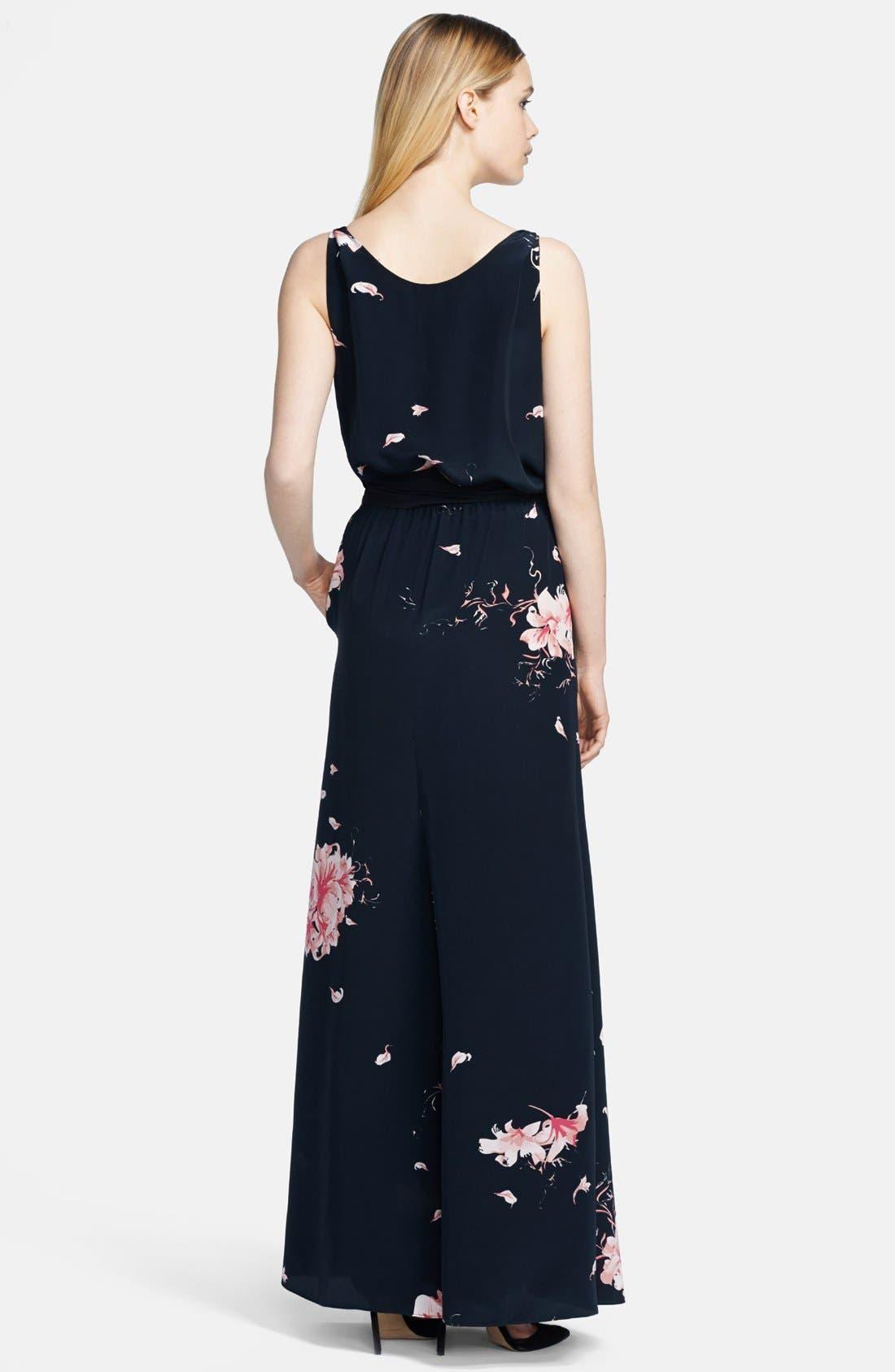 Alternate Image 2  - Jay Godfrey Print Satin Maxi Dress