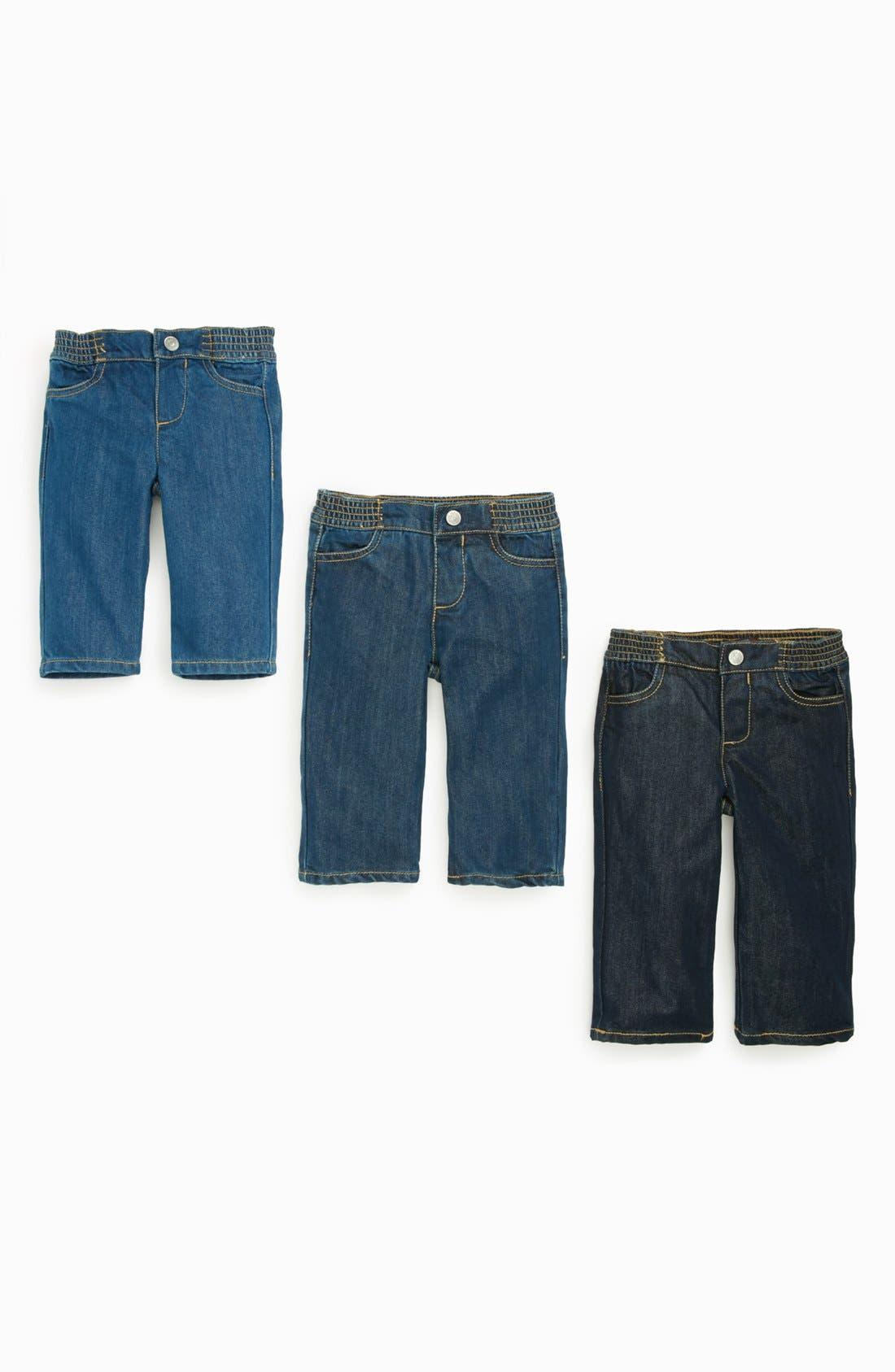 Alternate Image 2  - 7 For All Mankind® Denim Jeans (3-Pack) (Baby)