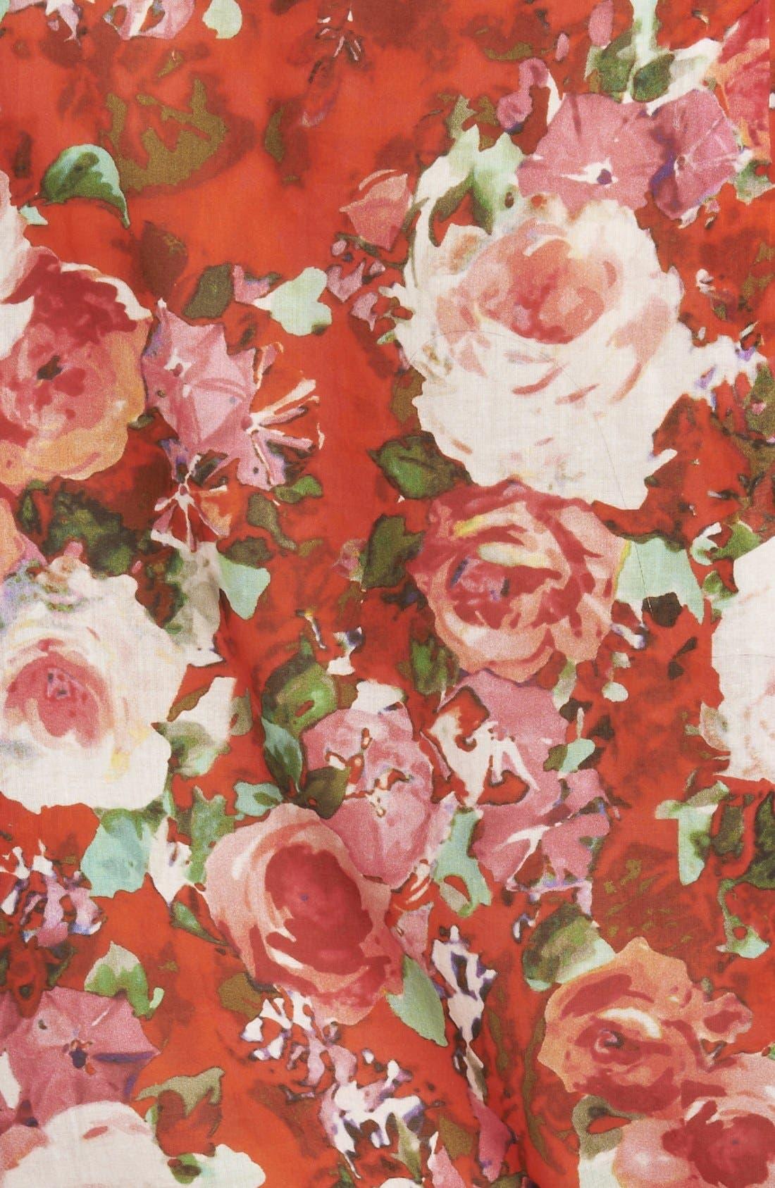 Alternate Image 3  - The Kooples Floral Print Cotton Blouse