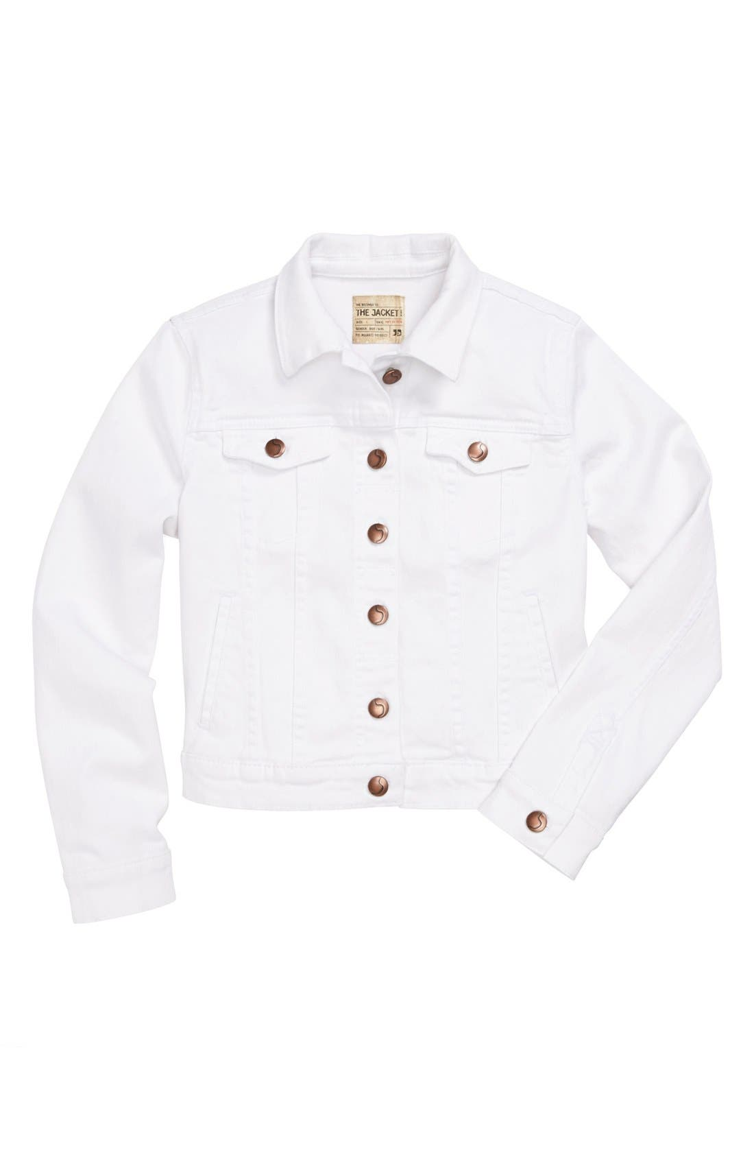 Alternate Image 1 Selected - Joe's Denim Jacket (Big Girls)