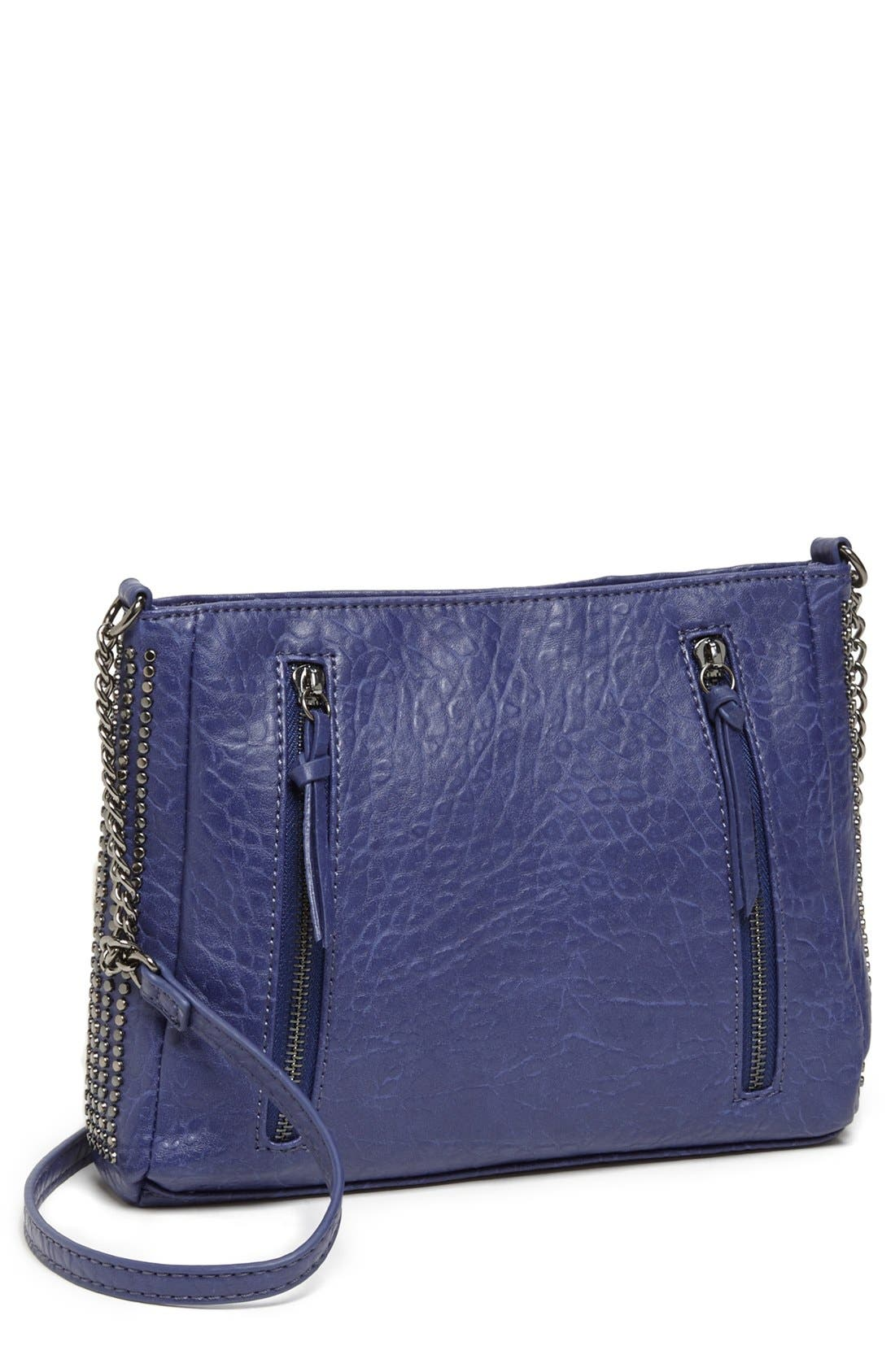 Main Image - BP. Double Zip Studded Crossbody Bag (Juniors)