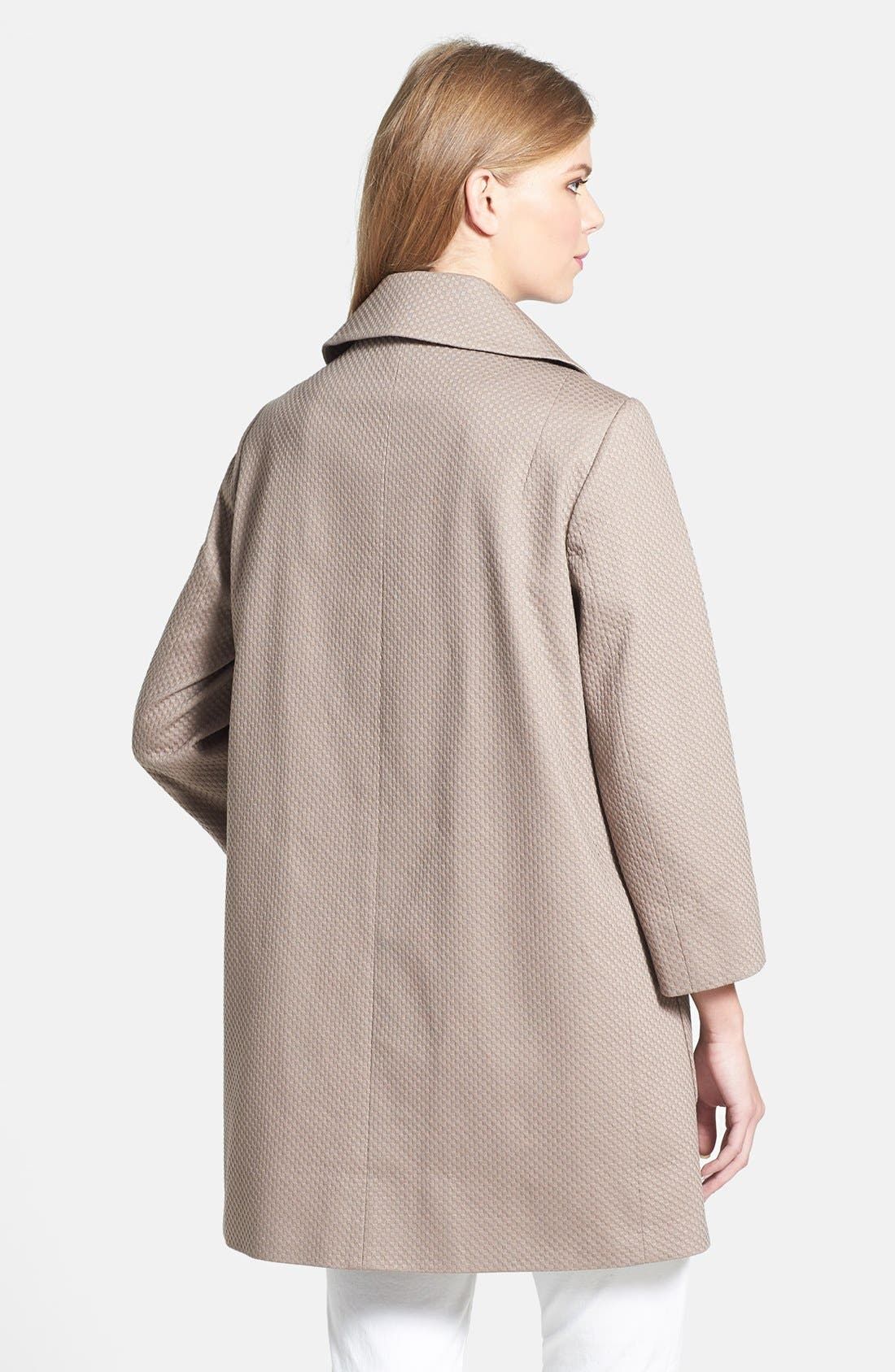 Alternate Image 2  - T Tahari 'Acacia' Piqué Walking Coat