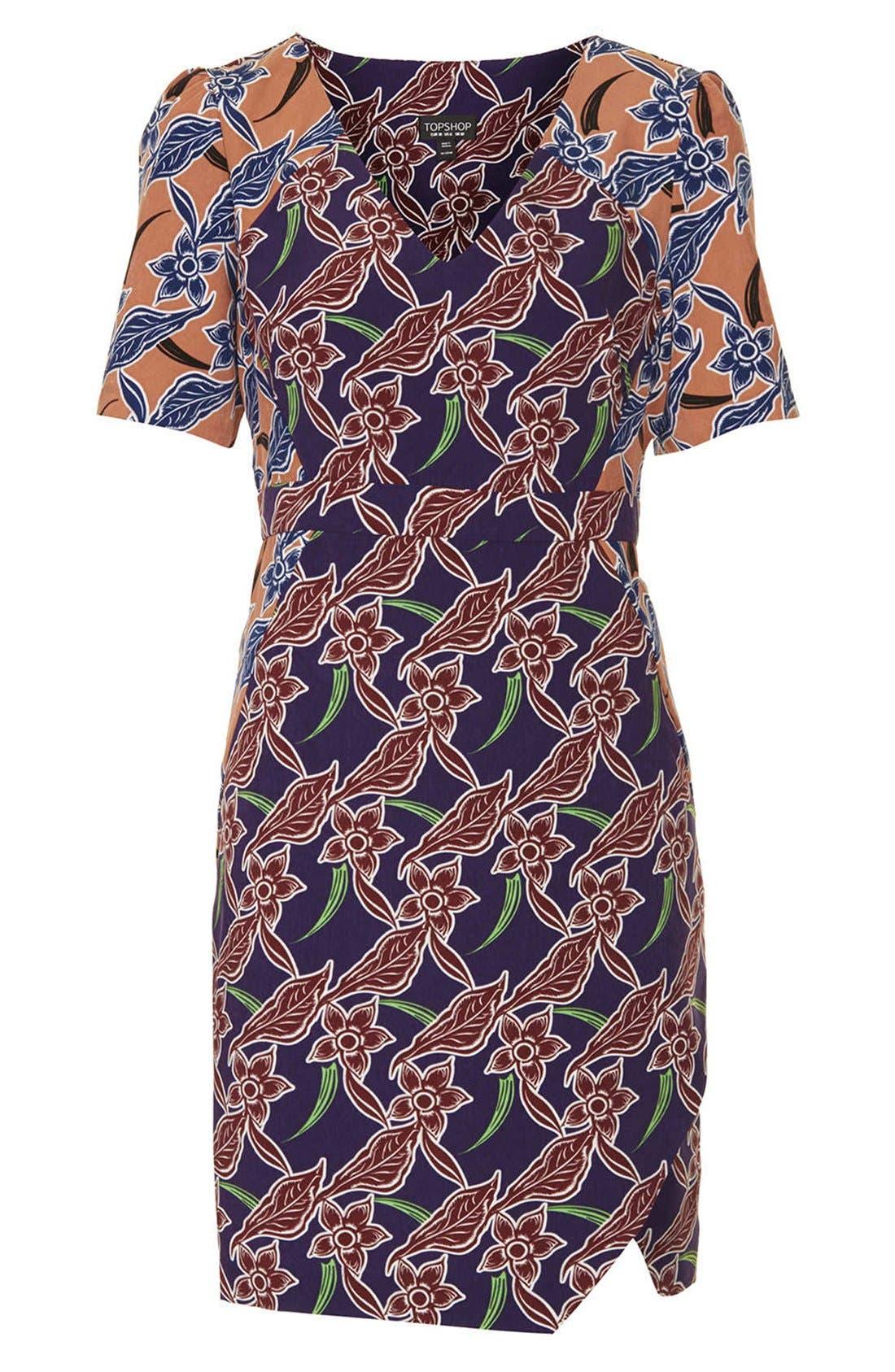 Alternate Image 3  - Topshop 'Cocktail Mix' Tropical Print Tea Dress
