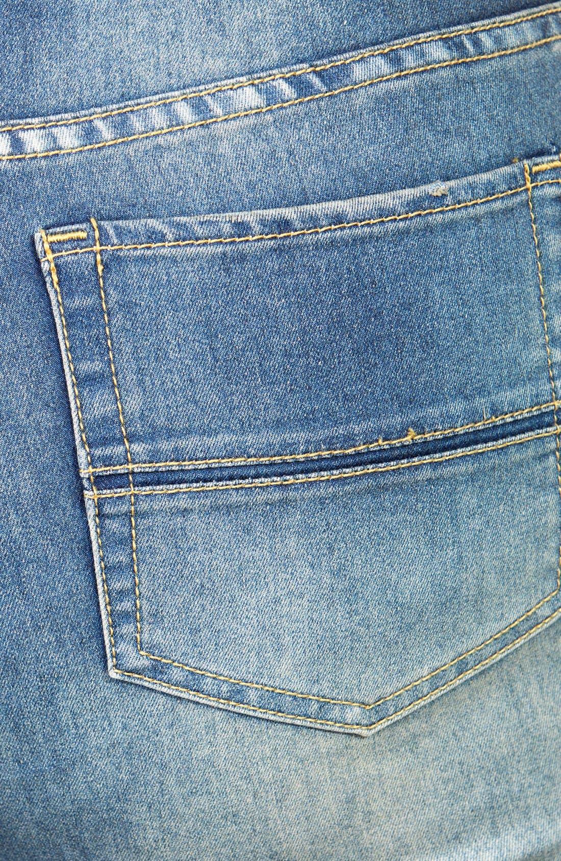 Alternate Image 3  - City Chic Soft Wash Bootcut Jeans (Mid Denim) (Plus Size)