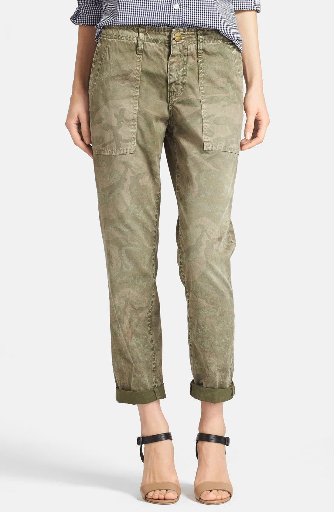 Main Image - Current/Elliott 'The Army Buddy' Jeans (Army Camo)
