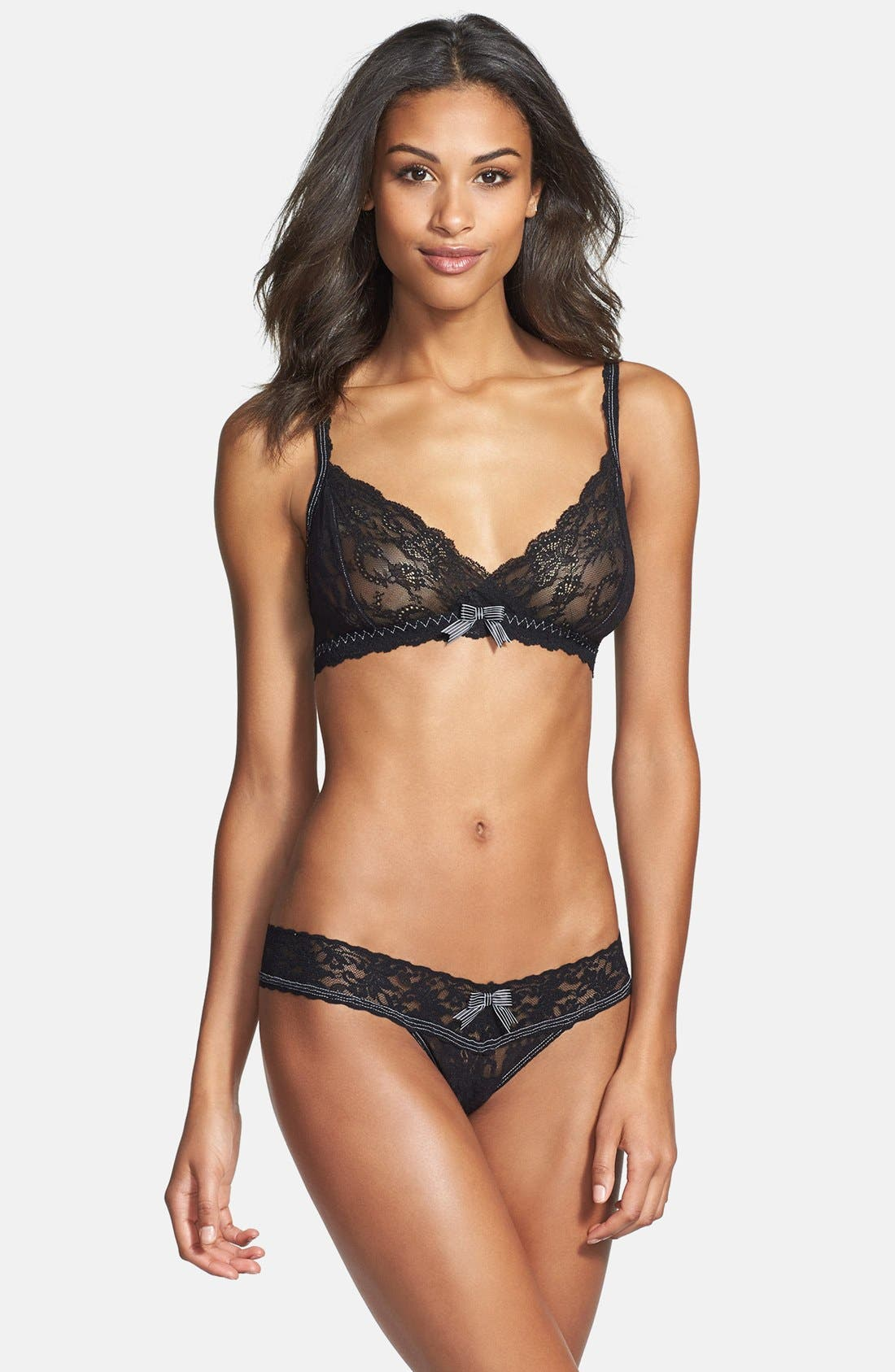 Alternate Image 3  - Hanky Panky 'Garbow' Crossover Lace Bralette