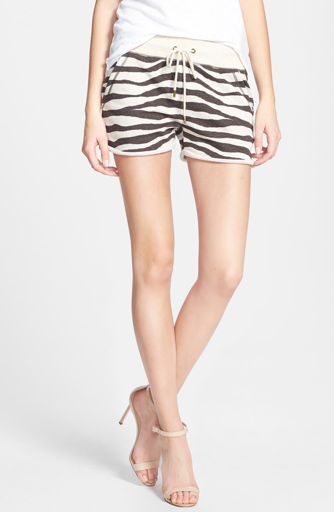 Main Image - MICHAEL Michael Kors Zebra Print Terry Shorts
