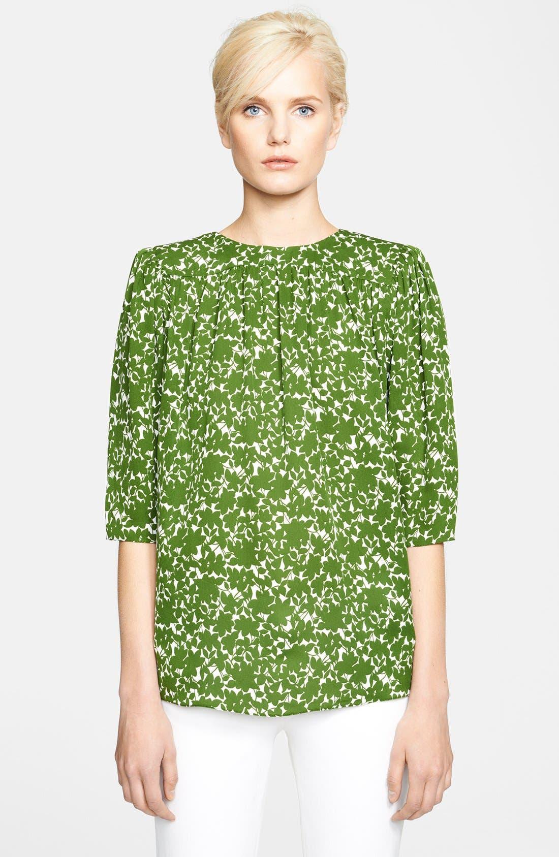 Alternate Image 1 Selected - Michael Kors Print Silk Blouse