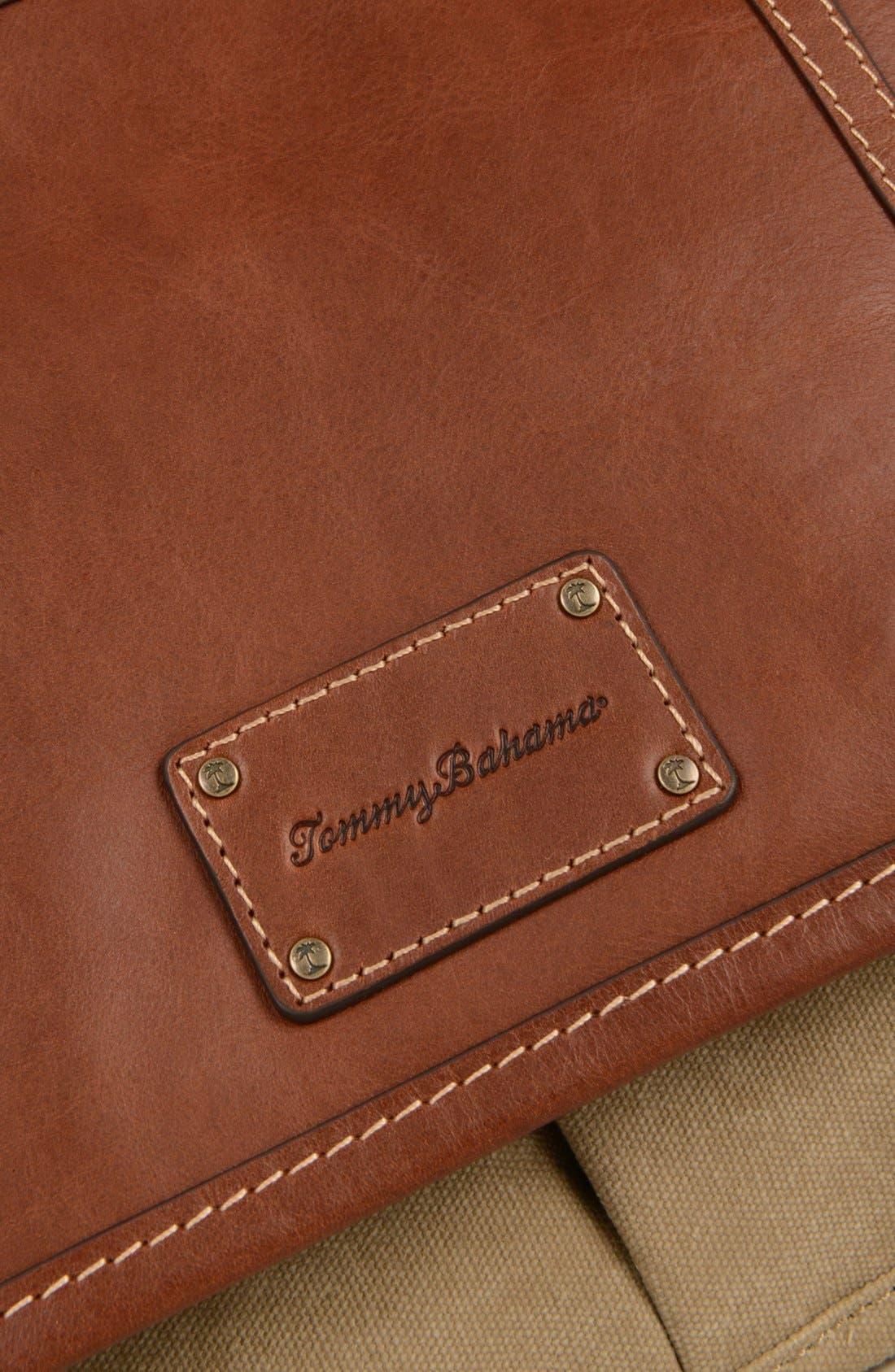 Alternate Image 6  - Tommy Bahama Canvas & Leather Messenger Bag