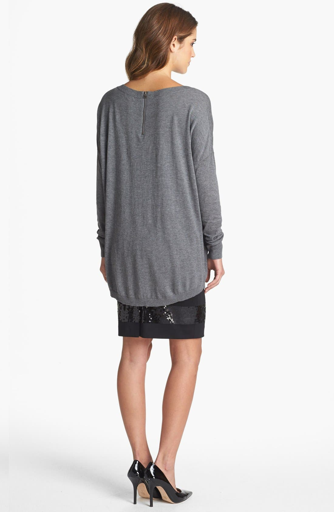 Alternate Image 5  - Halogen® High/Low Tunic Sweater (Petite)
