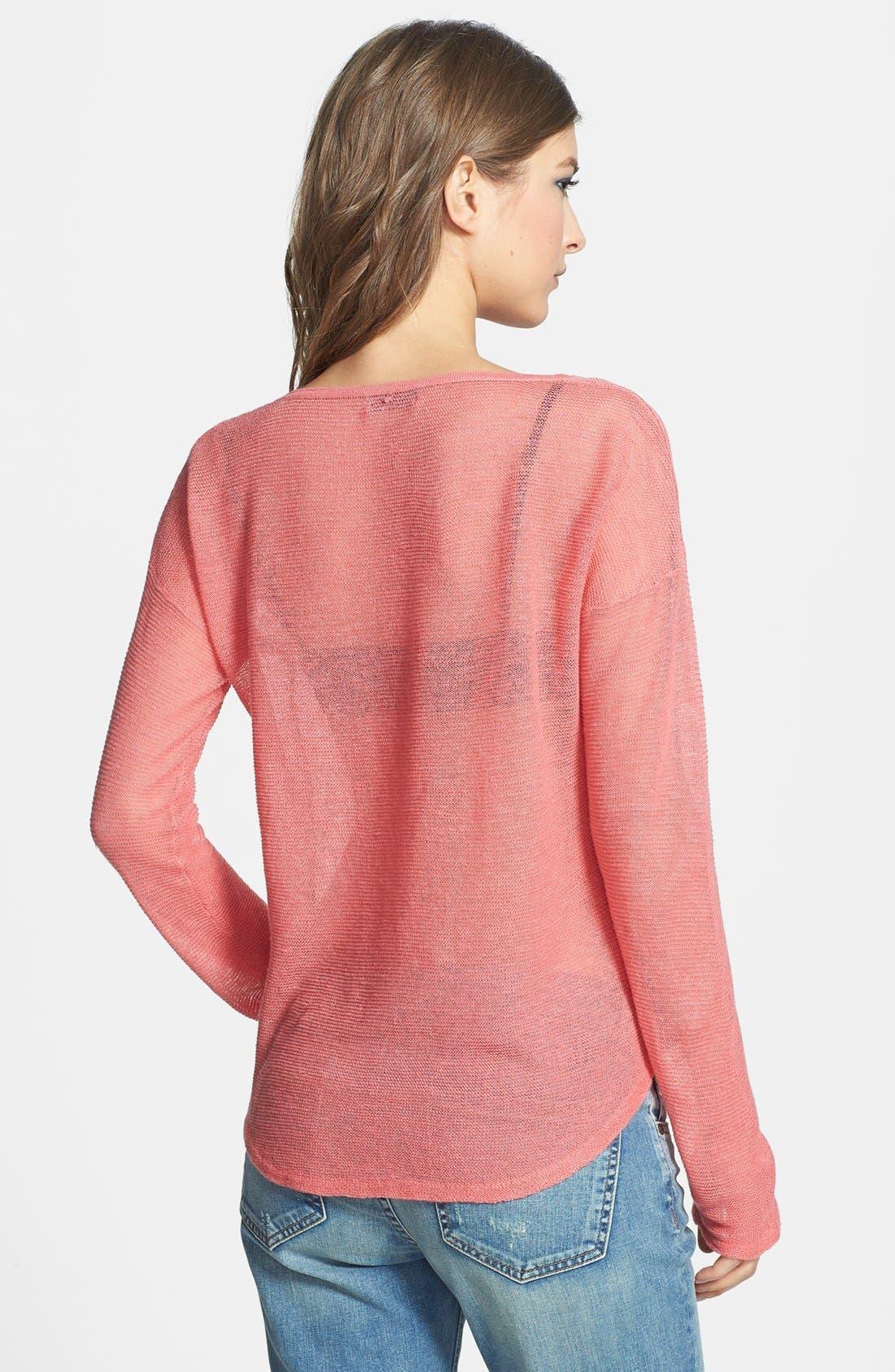 Alternate Image 2  - Tildon Sheer High/Low Pullover