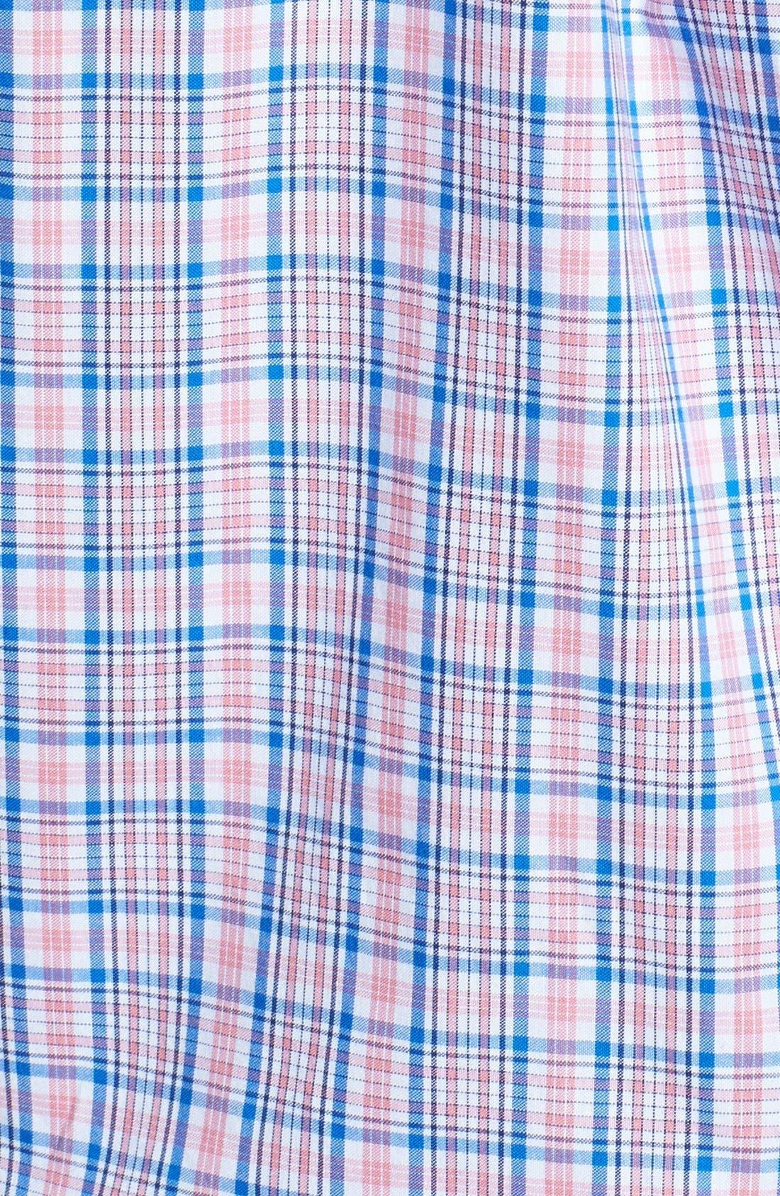 Alternate Image 3  - Vineyard Vines 'Whale - Bayberry' Check Slim Fit Sport Shirt
