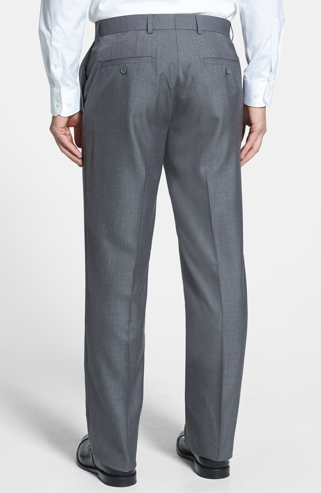 Alternate Image 2  - Linea Naturale Flat Front Textured Trousers (Nordstrom Exclusive)