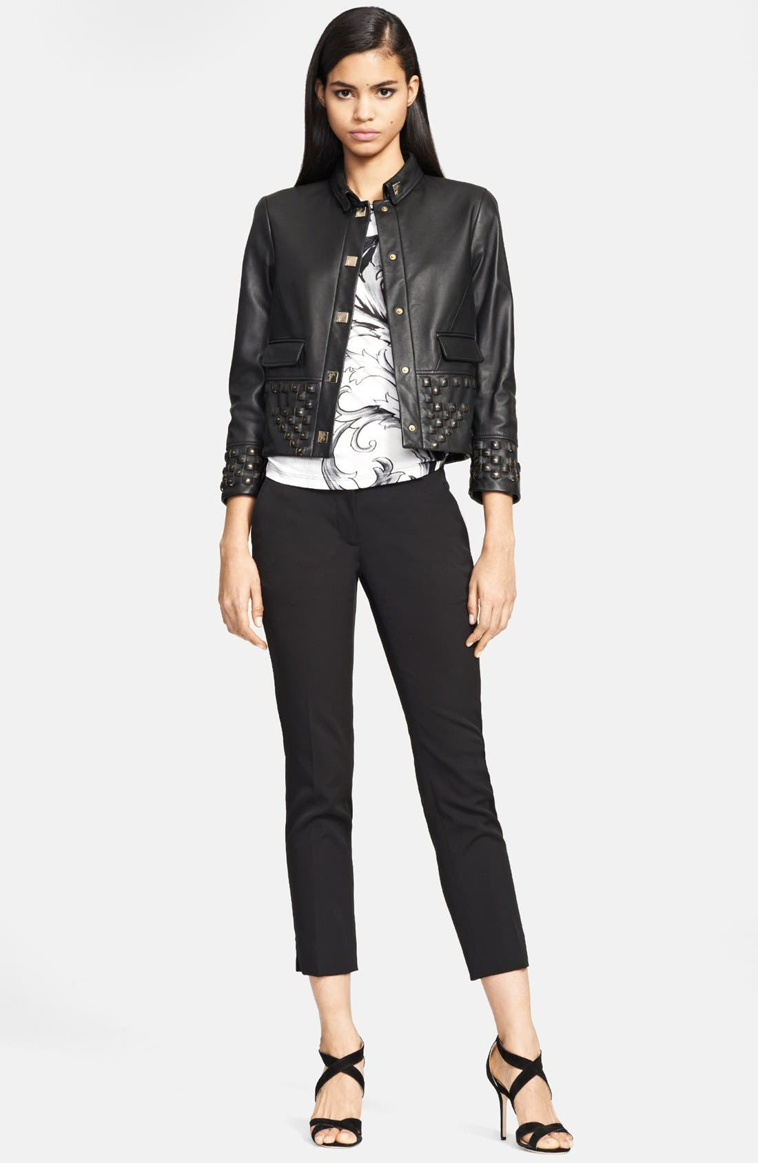 Alternate Image 3  - Versace Collection Studded Leather Jacket