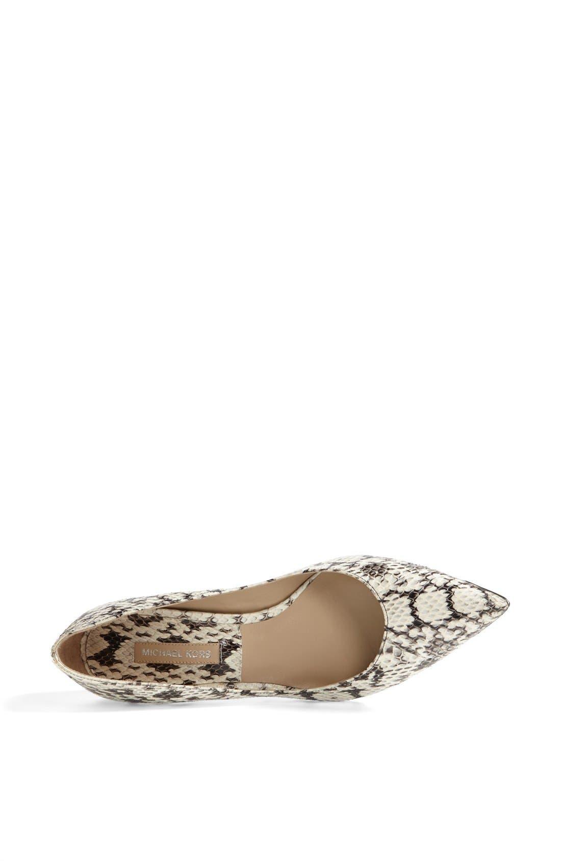 Alternate Image 3  - Michael Kors 'Trisha' Genuine Snakeskin Pump