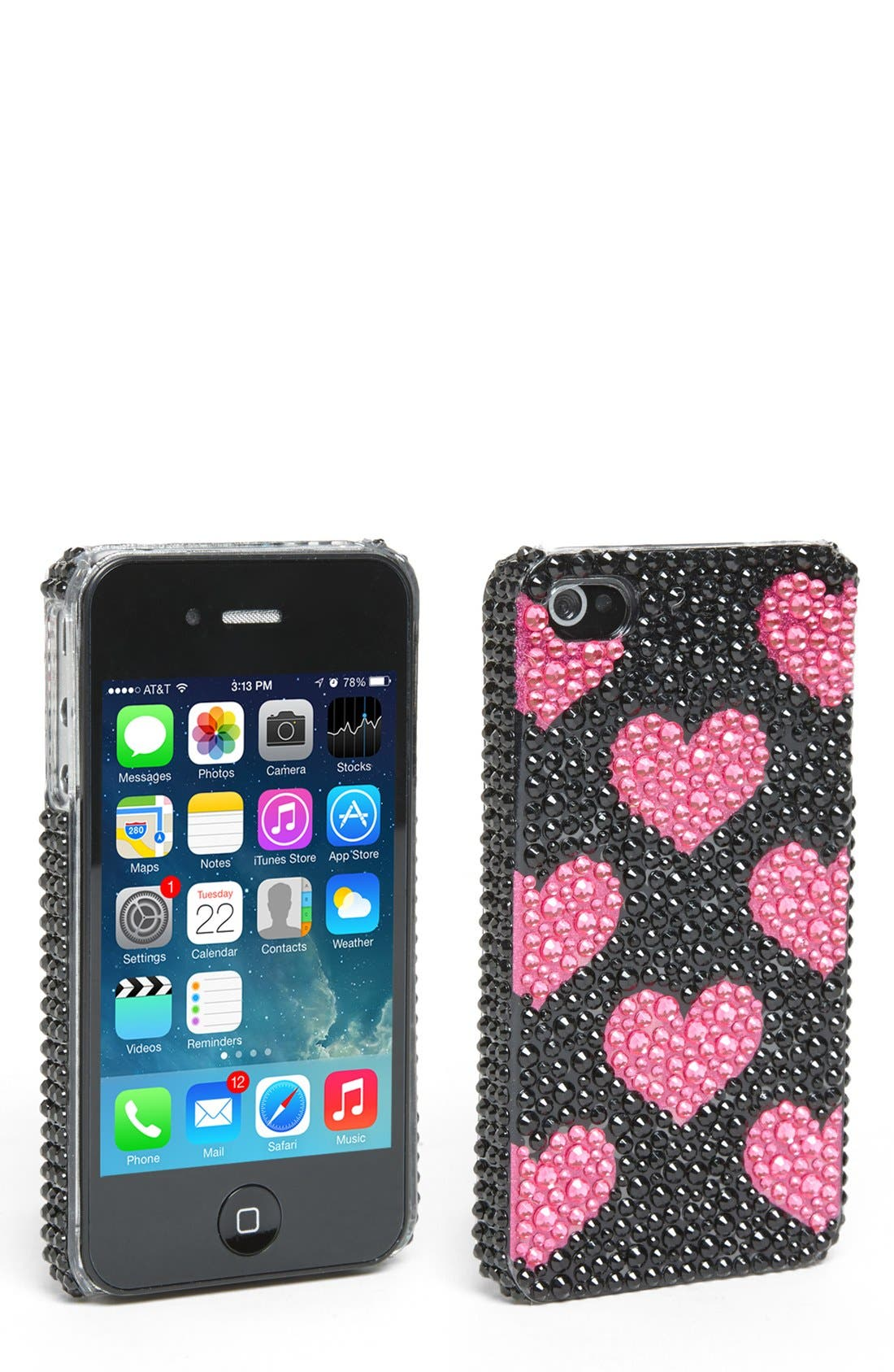 Alternate Image 1 Selected - Tri-Coastal Design 'Heart' iPhone 4 Case (Juniors) (Online Only)