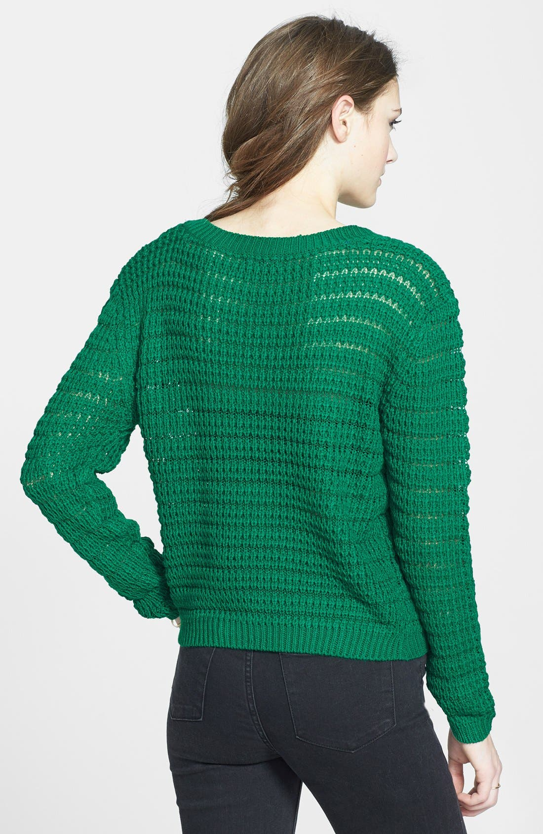 Alternate Image 2  - Timing Open Knit Sweater (Juniors) (Online Only)