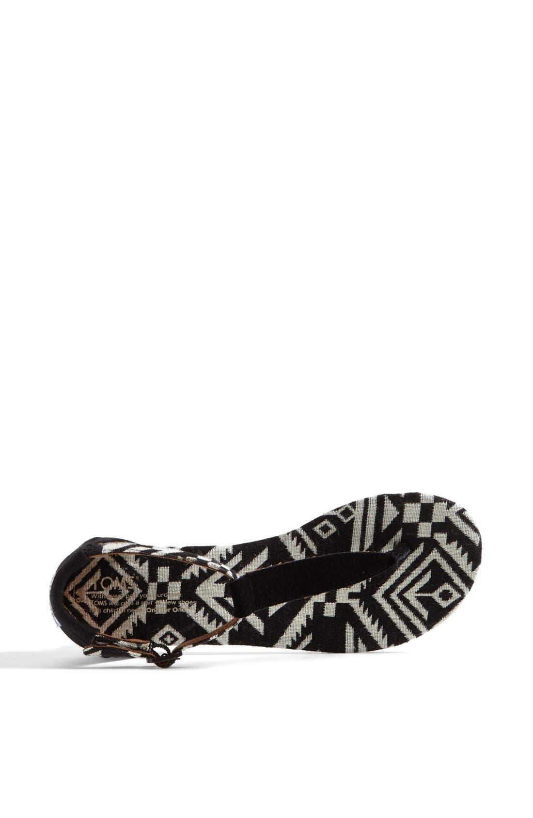 Alternate Image 3  - TOMS 'Playa' T-Strap Flat Sandal