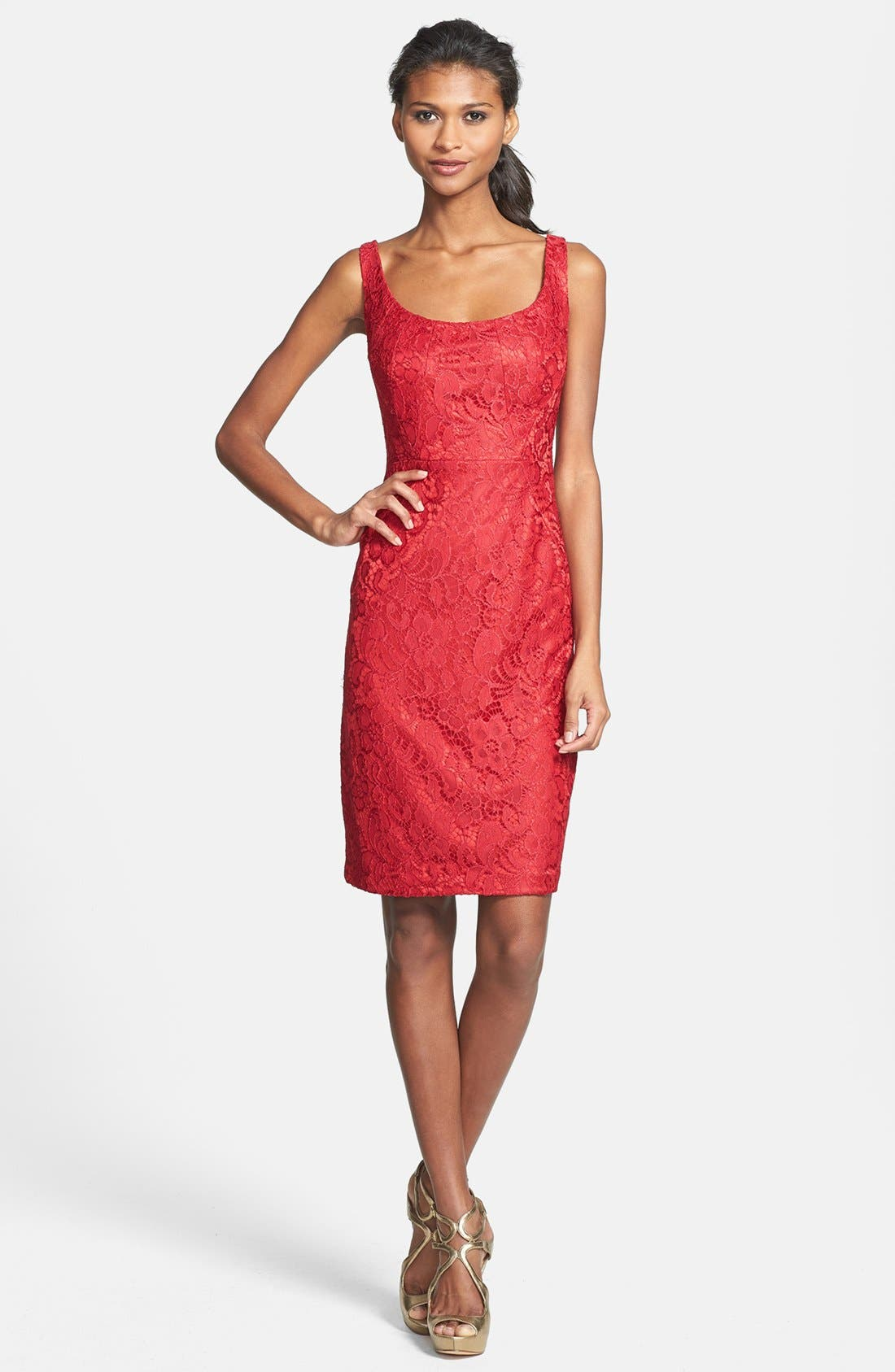 Alternate Image 2  - JAX Lace Sheath Dress