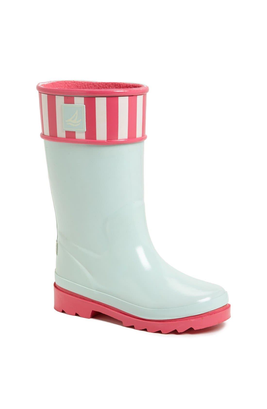 Alternate Image 1 Selected - Sperry Top-Sider® Kids 'Pelican' Rain Boot (Walker, Toddler, Little Kid & Big Kid)
