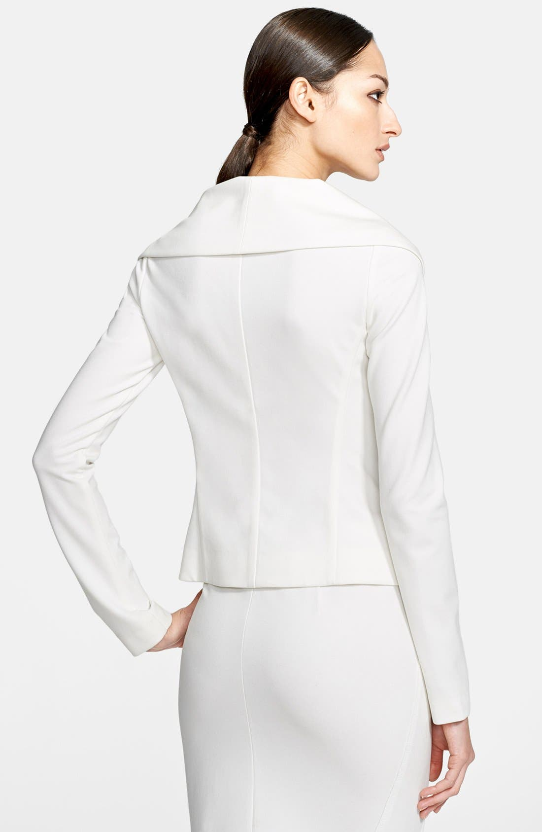 Alternate Image 2  - Donna Karan Collection Portrait Collar Jersey Jacket