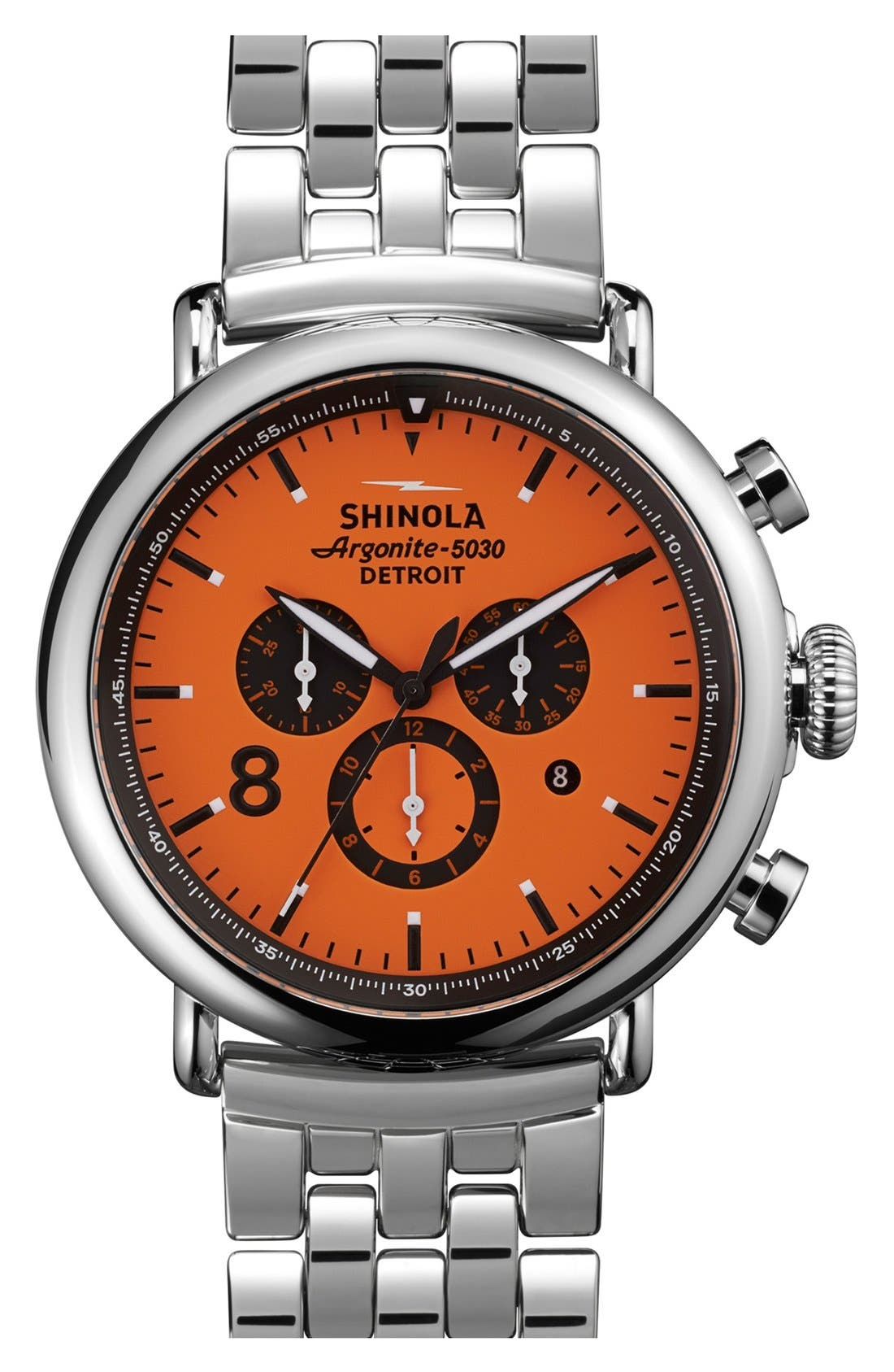 Alternate Image 1 Selected - Shinola 'The Runwell Chrono - Sport' Bracelet Watch, 47mm