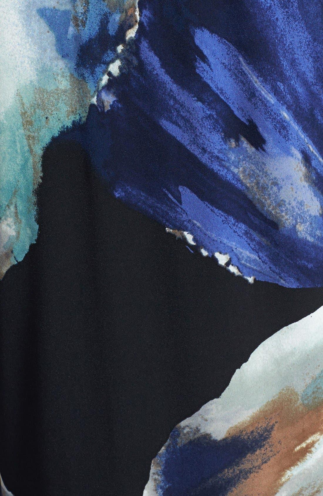 Alternate Image 4  - Donna Ricco Print Jersey Shift Dress