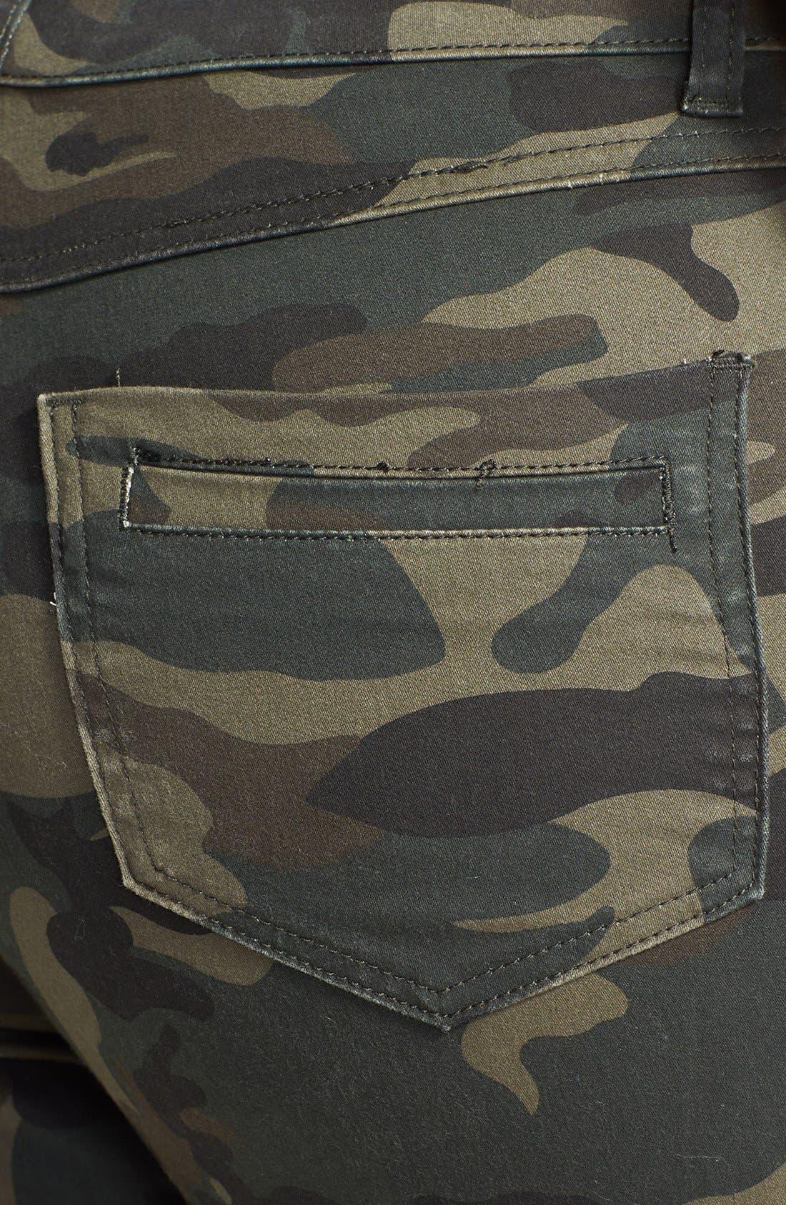 Alternate Image 3  - City Chic Camo Print Pants (Plus Size)