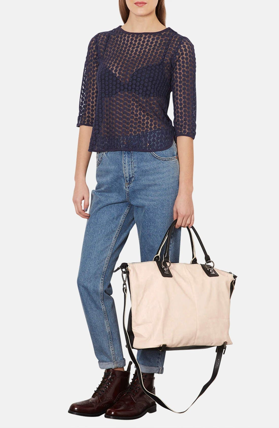 Alternate Image 2  - Topshop Faux Leather Tote