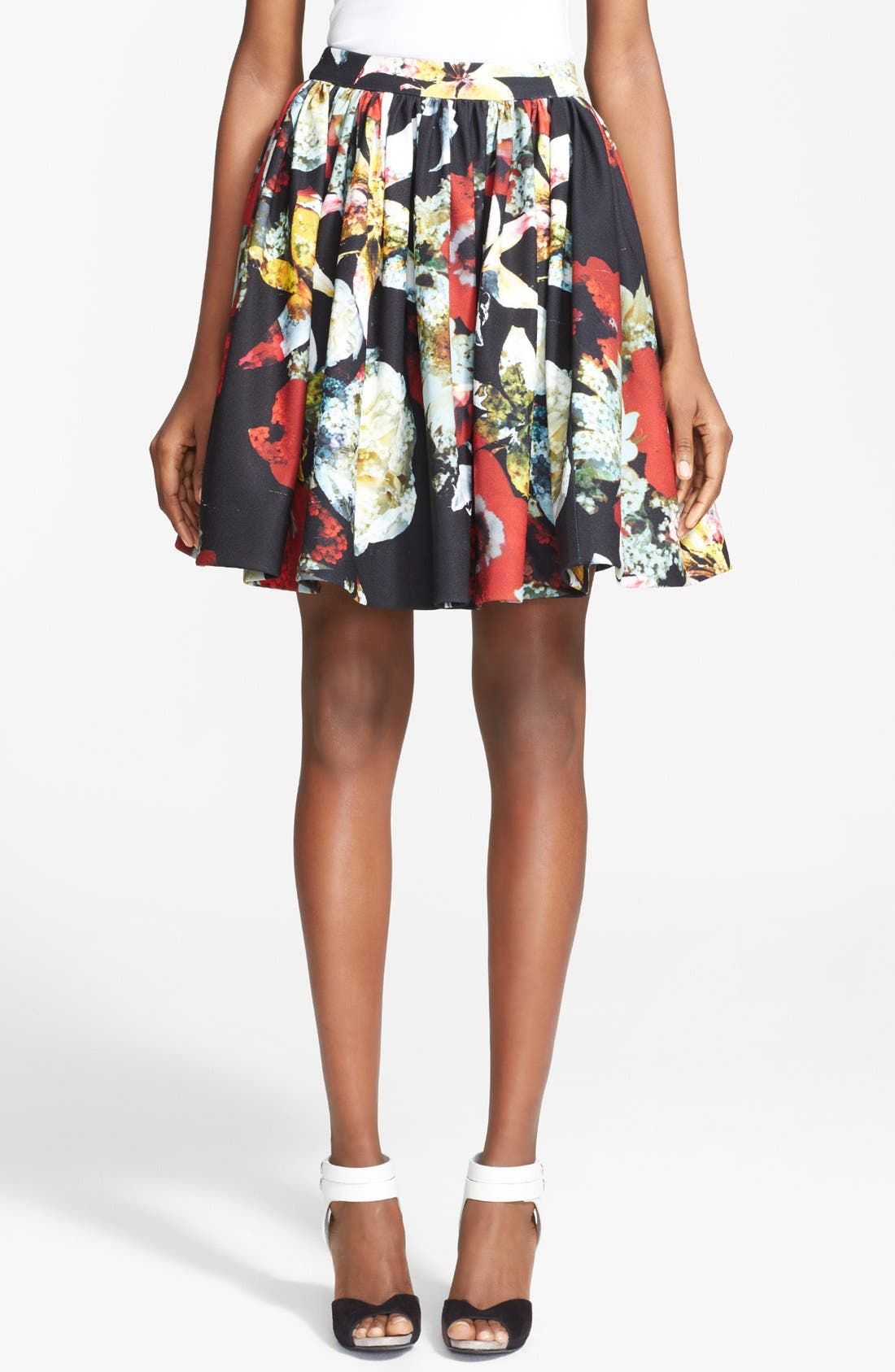Main Image - Alice + Olivia 'Pia' Print Flared Skirt