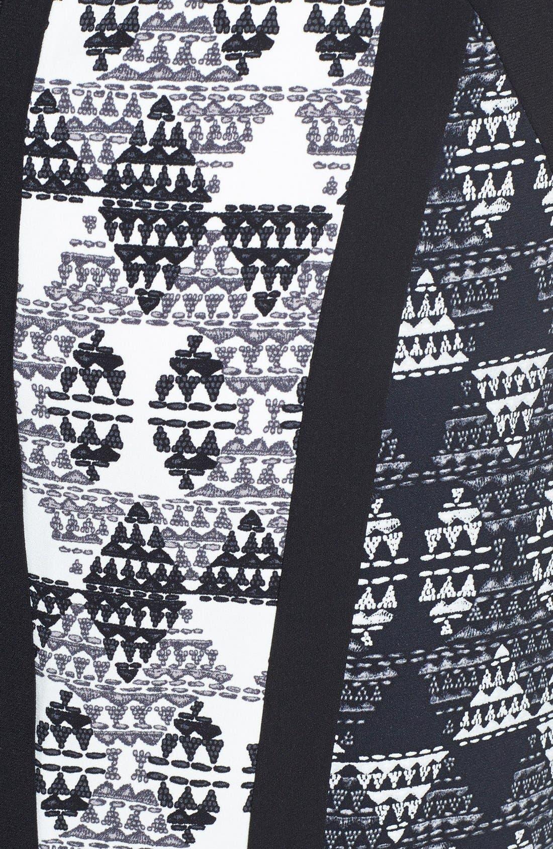 Alternate Image 3  - BCBGMAXAZRIA 'Holly' Print Stretch Crepe Sheath Dress
