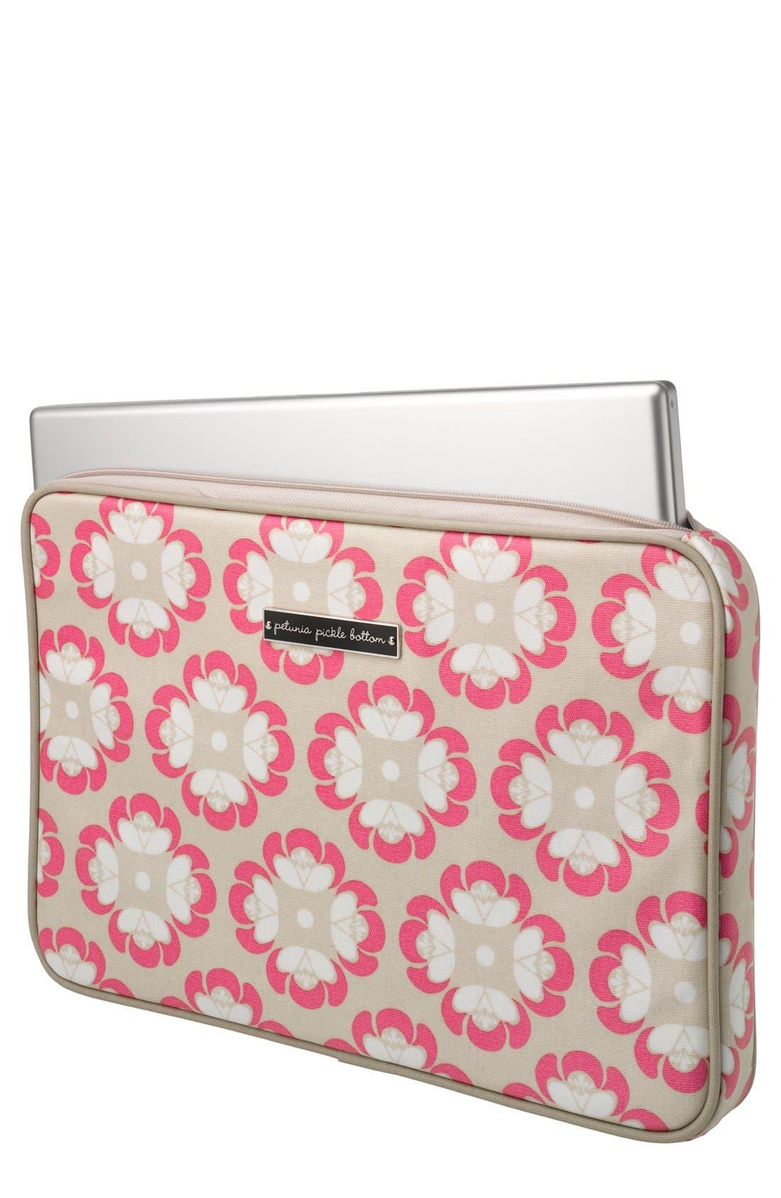 Main Image - Petunia Pickle Bottom 'Carried Away' Glazed Laptop Sleeve (15 Inch)