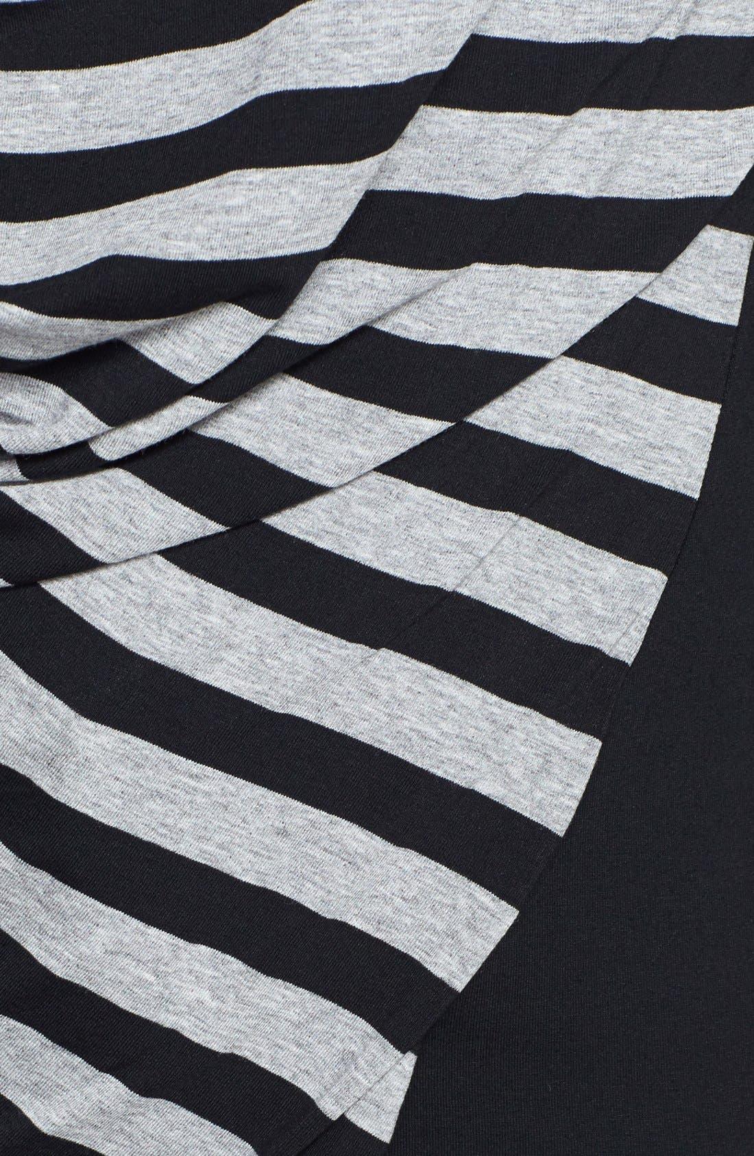 Alternate Image 3  - Vince Camuto Stripe Front Side Drape Top