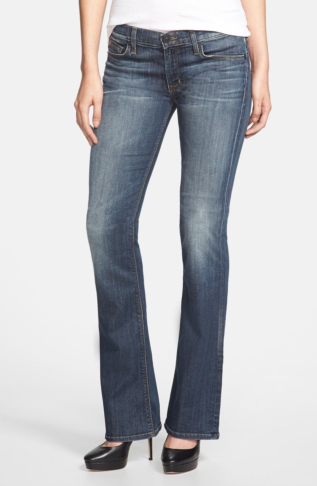 Main Image - Hudson Jeans 'Love' Low Rise Bootcut Jeans (Glam)