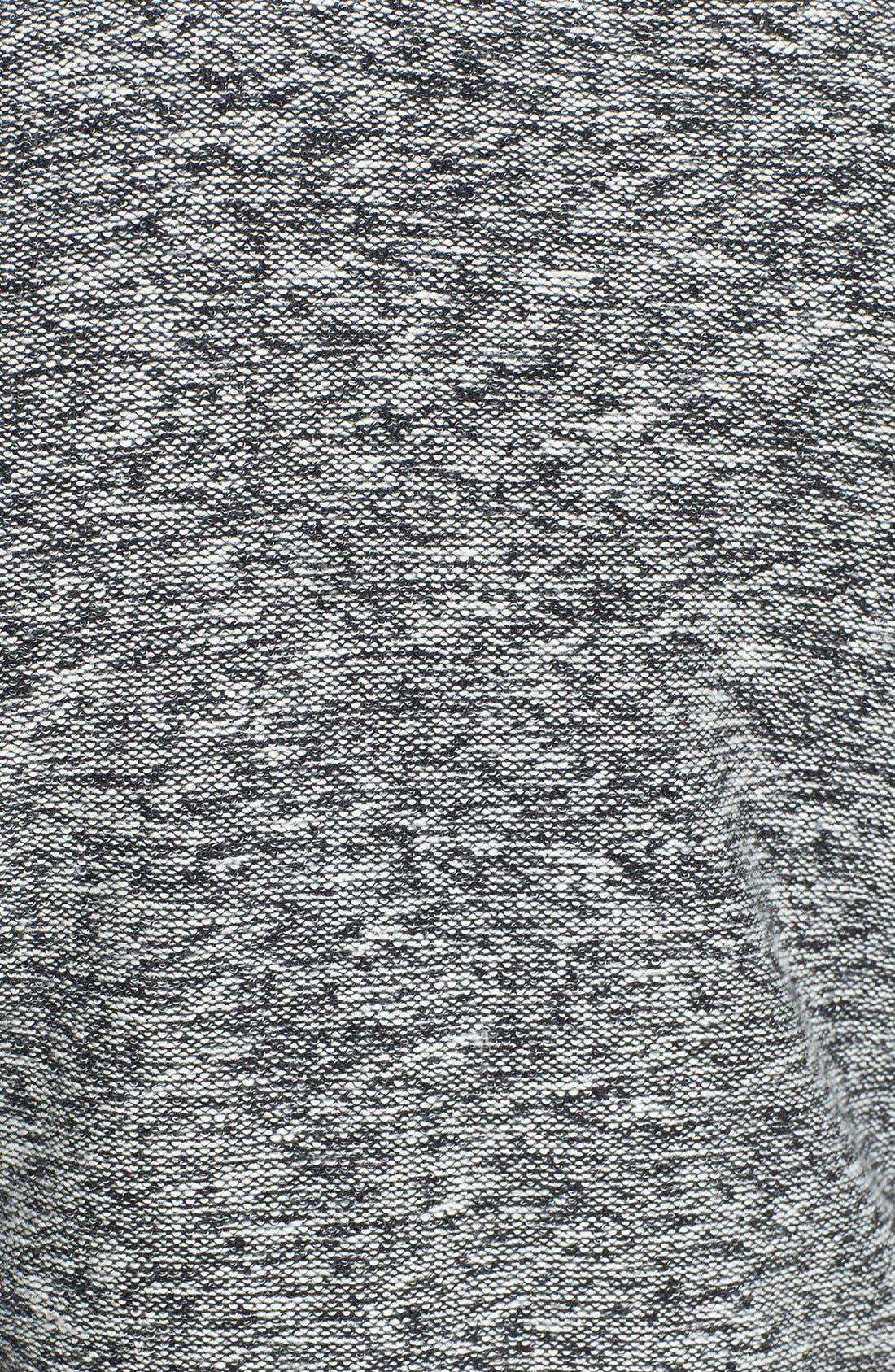 Alternate Image 3  - Topman Crewneck Sweatshirt with Faux Leather Shoulder Trim