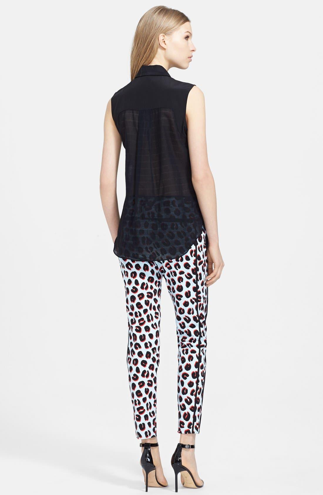 Alternate Image 2  - Veronica Beard Sleeveless Cotton Voile Shirt