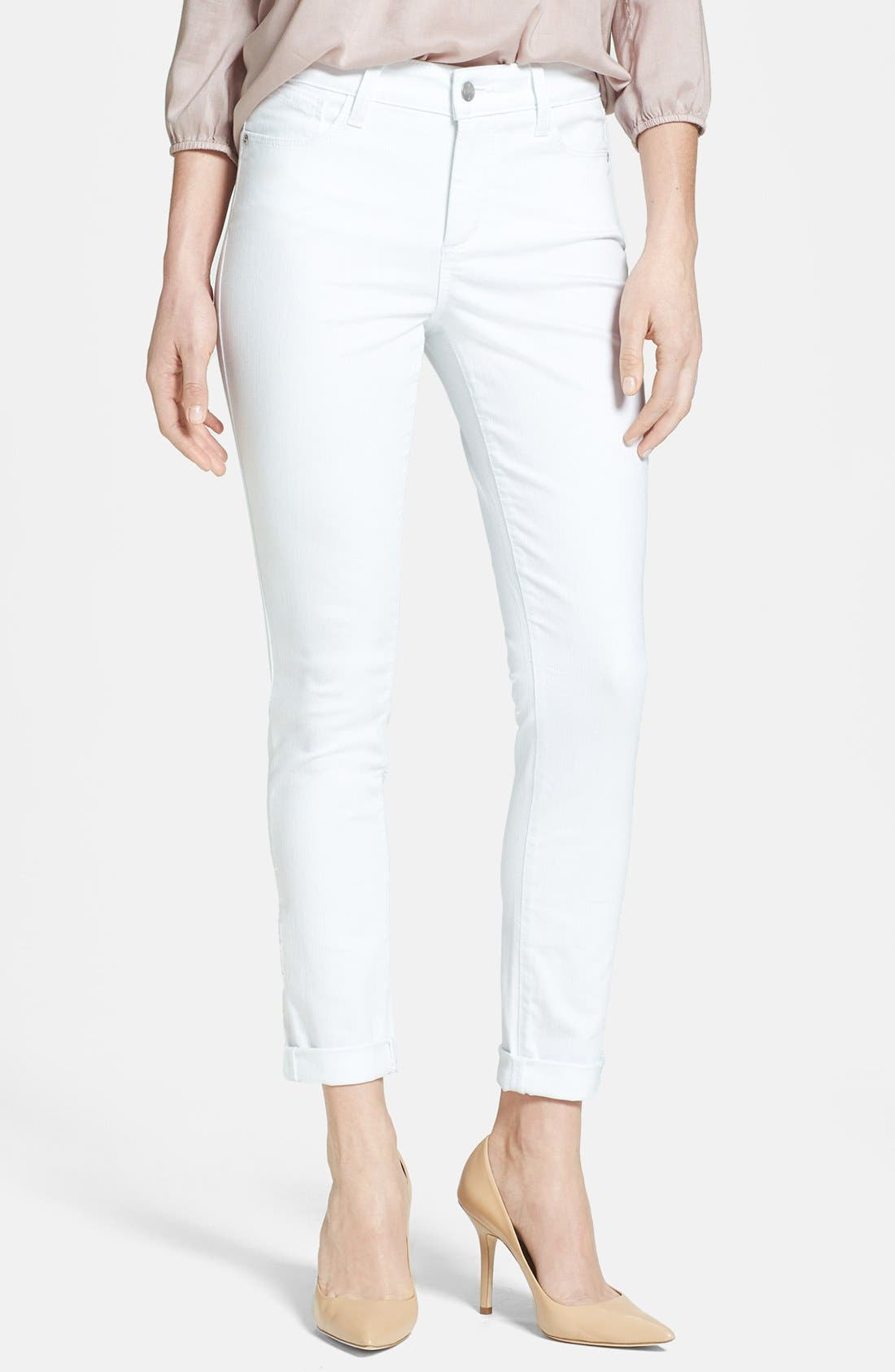 Alternate Image 1 Selected - NYDJ 'Anabelle' Stretch Skinny Jeans (Optic White)