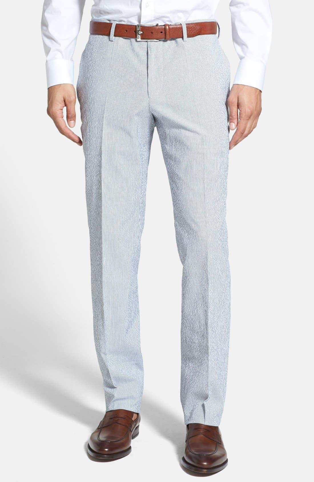 Alternate Image 4  - BOSS HUGO BOSS 'Nestor/Knox' Trim Fit Stretch Cotton Suit