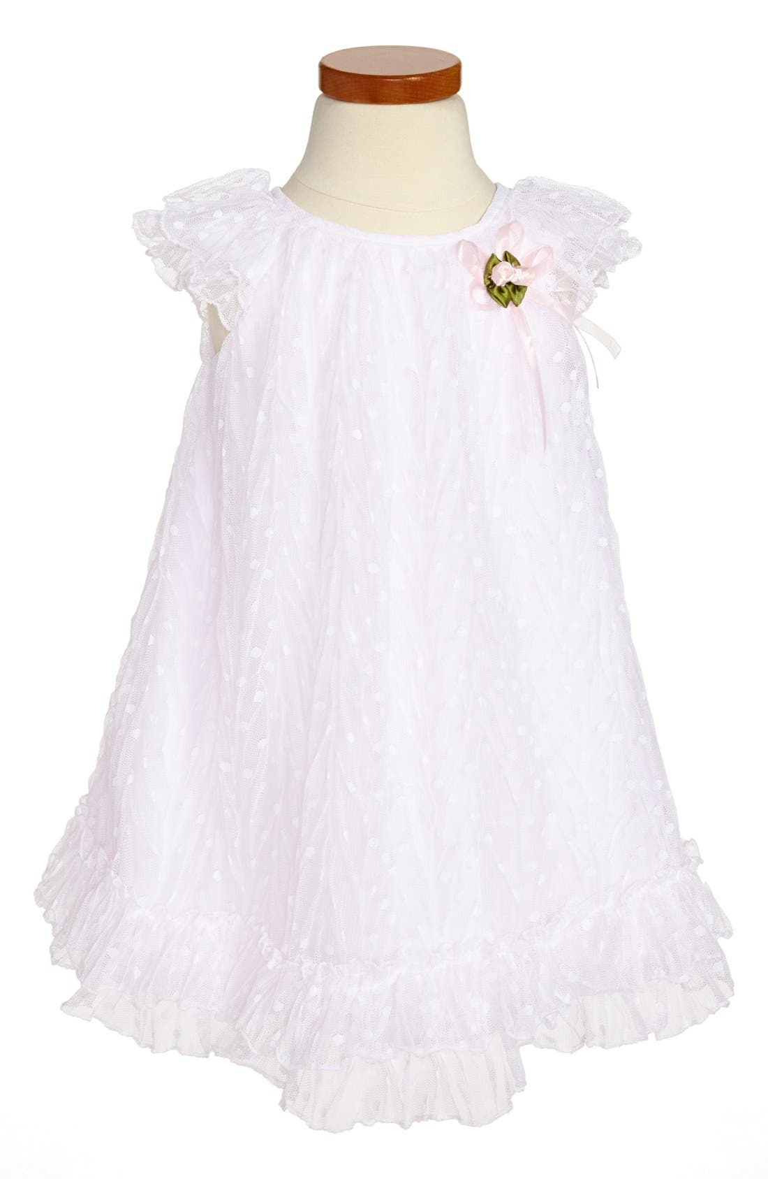 Main Image - Pippa & Julie Point d'Esprit Dress (Toddler Girls)