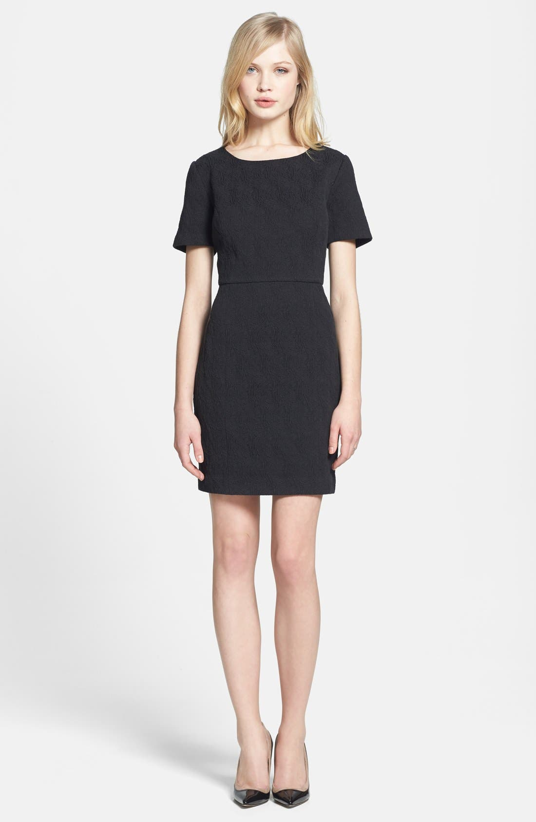 Main Image - Chelsea28 Back Cutout Jacquard Dress