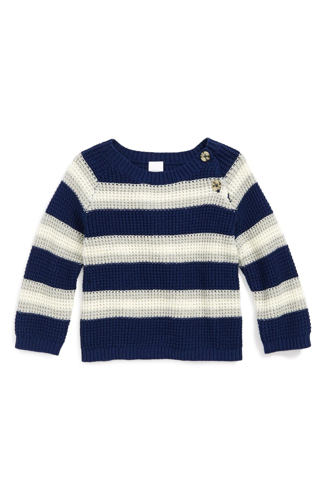 Alternate Image 1 Selected - Nordstrom Baby Stripe Sweater (Baby Boys)