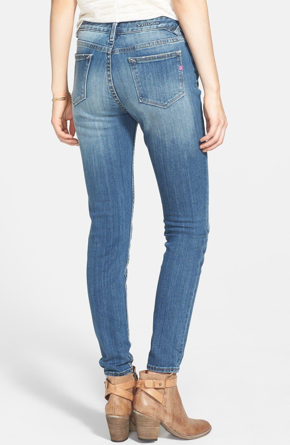 Alternate Image 2  - Vigoss High Waist Skinny Jeans (Medium) (Juniors)