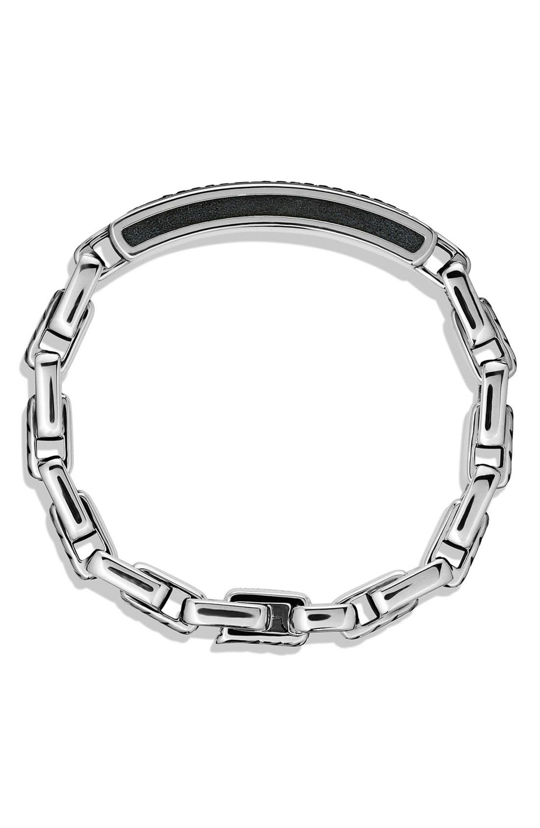 Alternate Image 2  - David Yurman 'Modern Cable' ID Bracelet with Black Diamonds