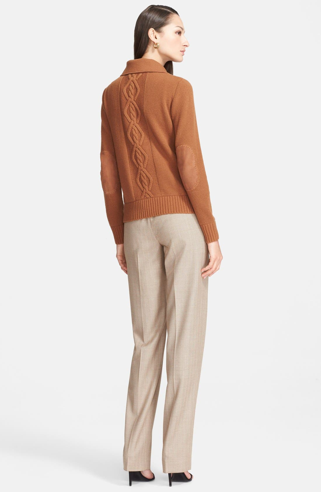Alternate Image 3  - St. John Collection 'Diana - Chevron Suiting' Straight Leg Pants